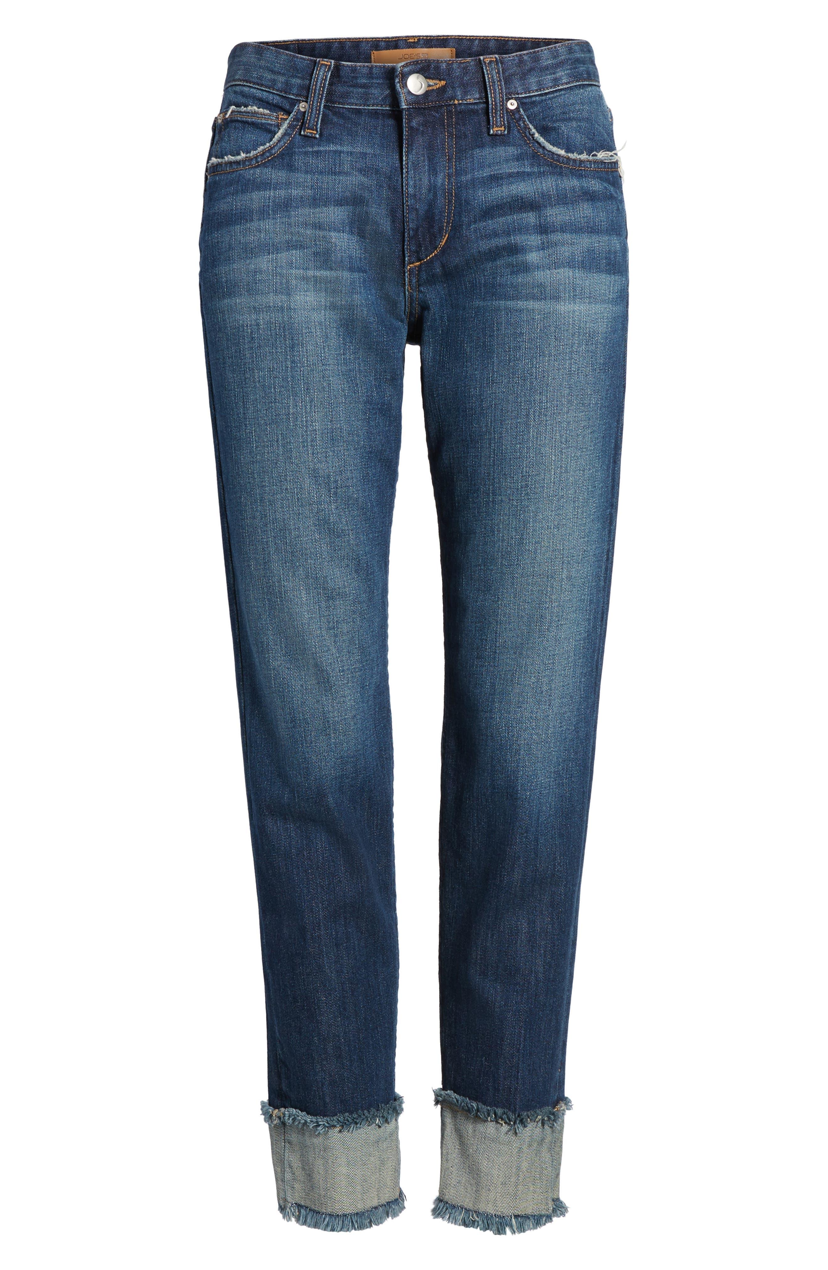 Smith Crop Boyfriend Jeans,                             Alternate thumbnail 6, color,                             411