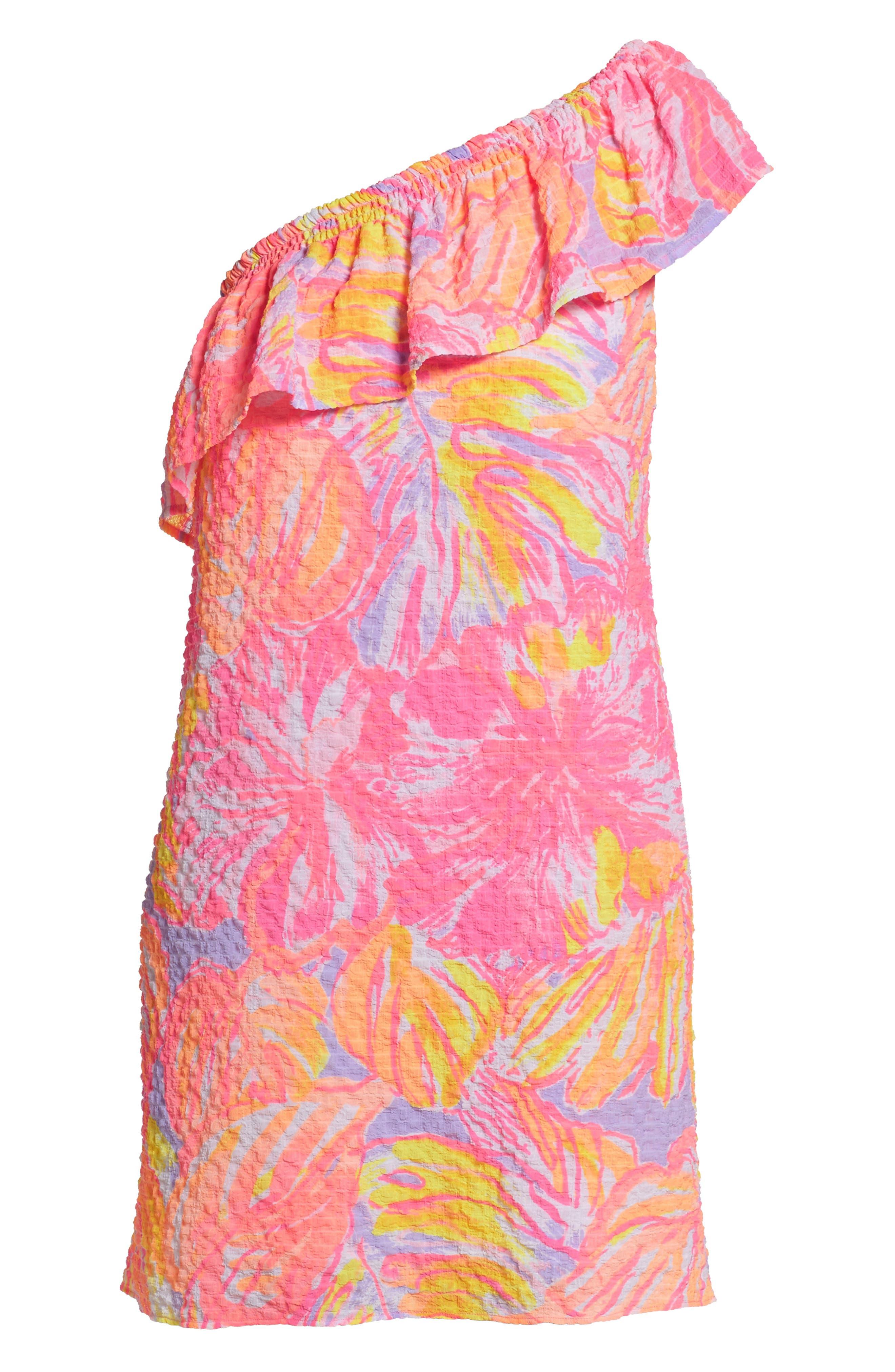 Emmeline One-Shoulder Dress,                             Alternate thumbnail 7, color,                             599