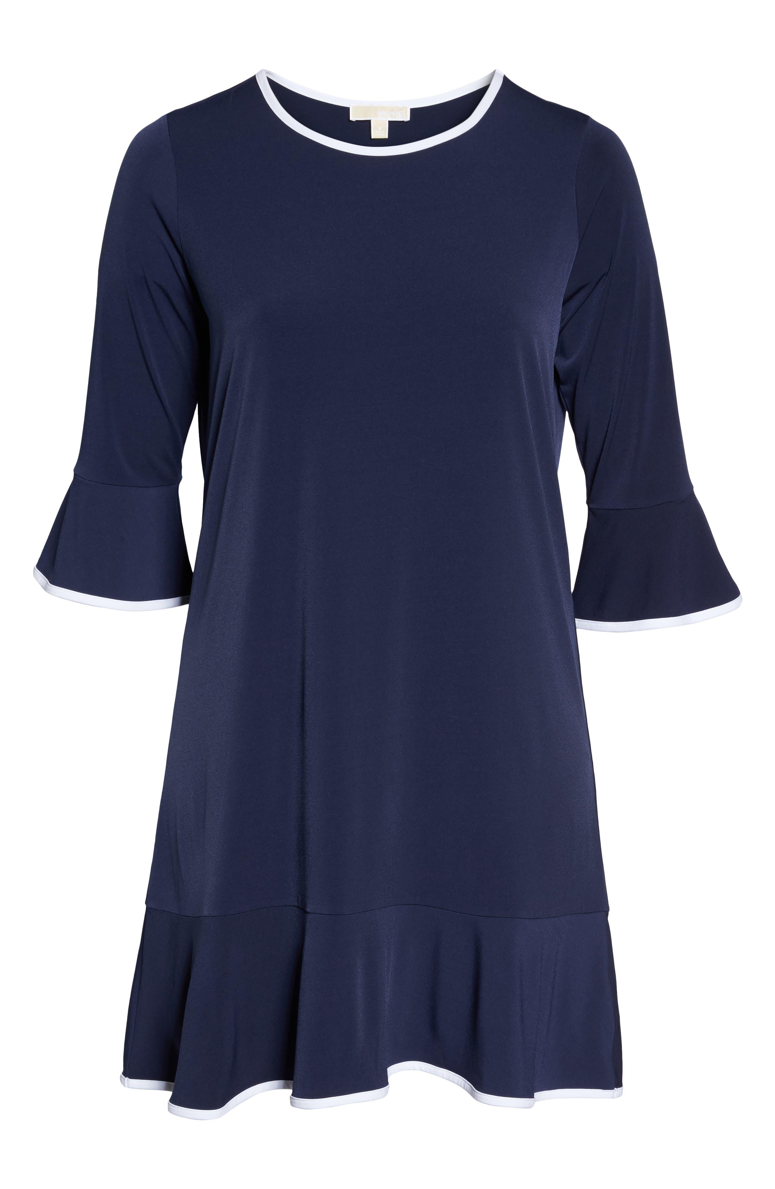 Solid Flounce Dress,                             Alternate thumbnail 12, color,