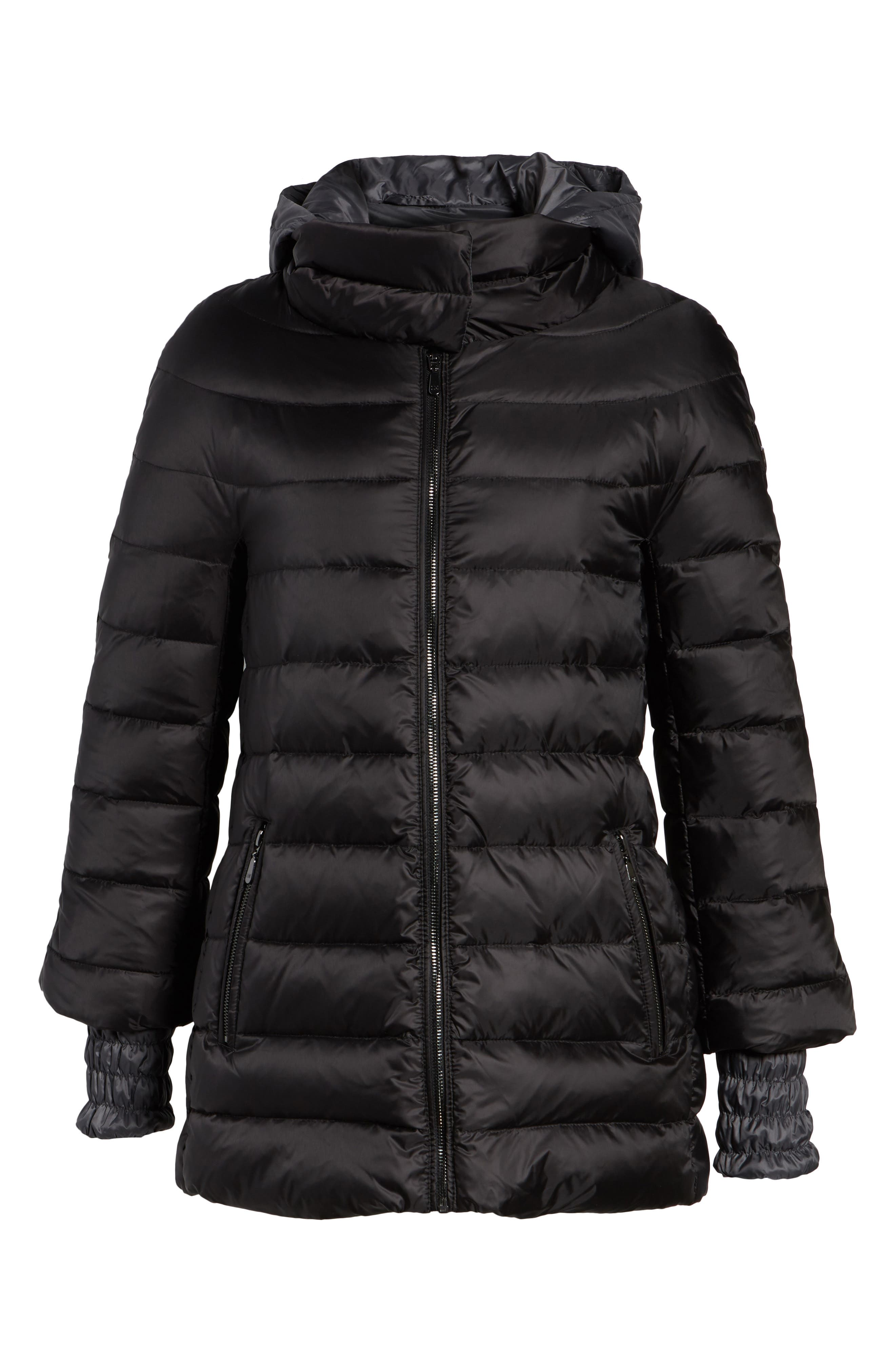 3-in-1 Layered Packable Quilted Down Coat,                             Alternate thumbnail 11, color,