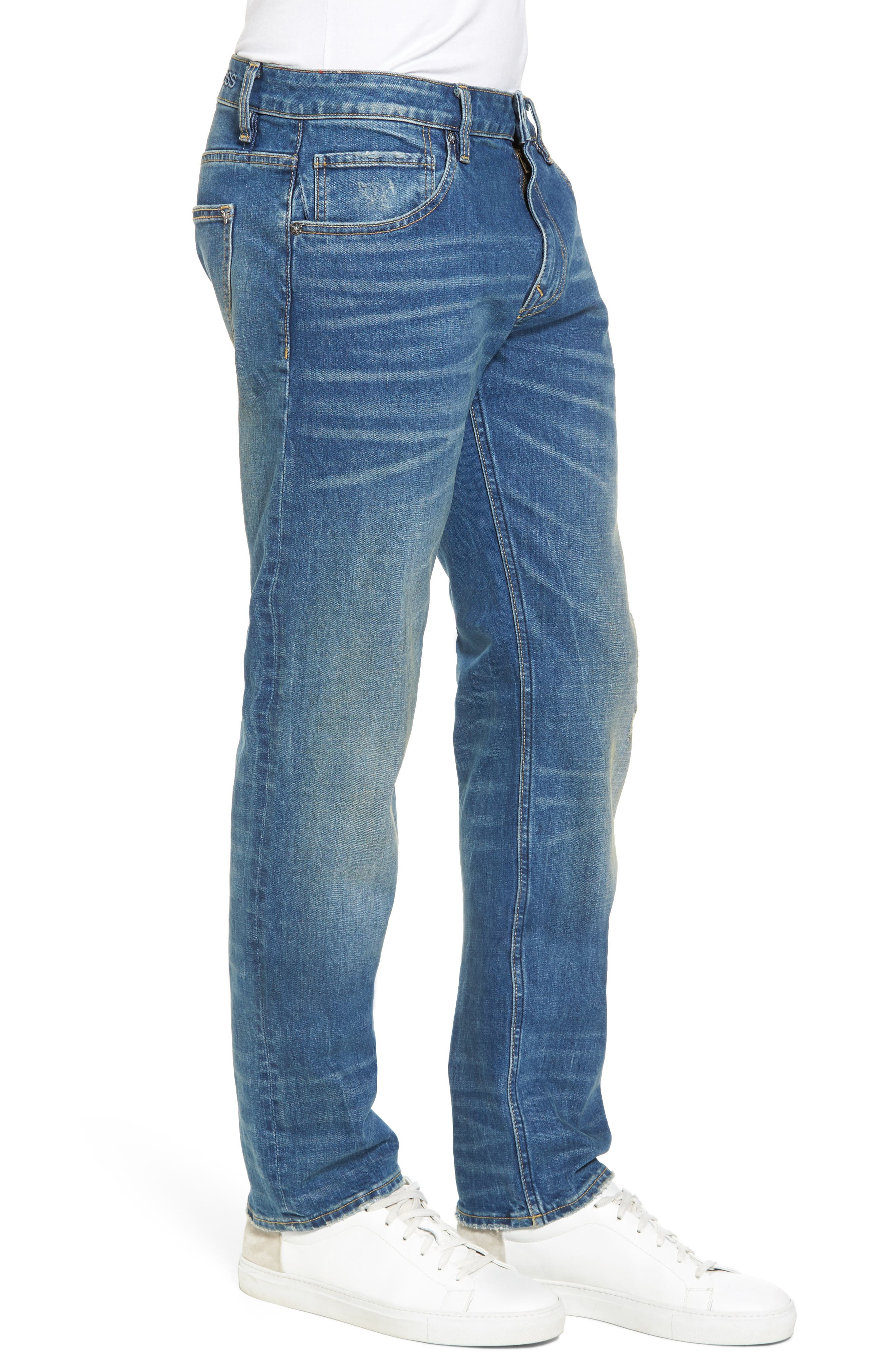 Slim Straight Leg Jeans,                             Alternate thumbnail 3, color,                             TINT LIGHT