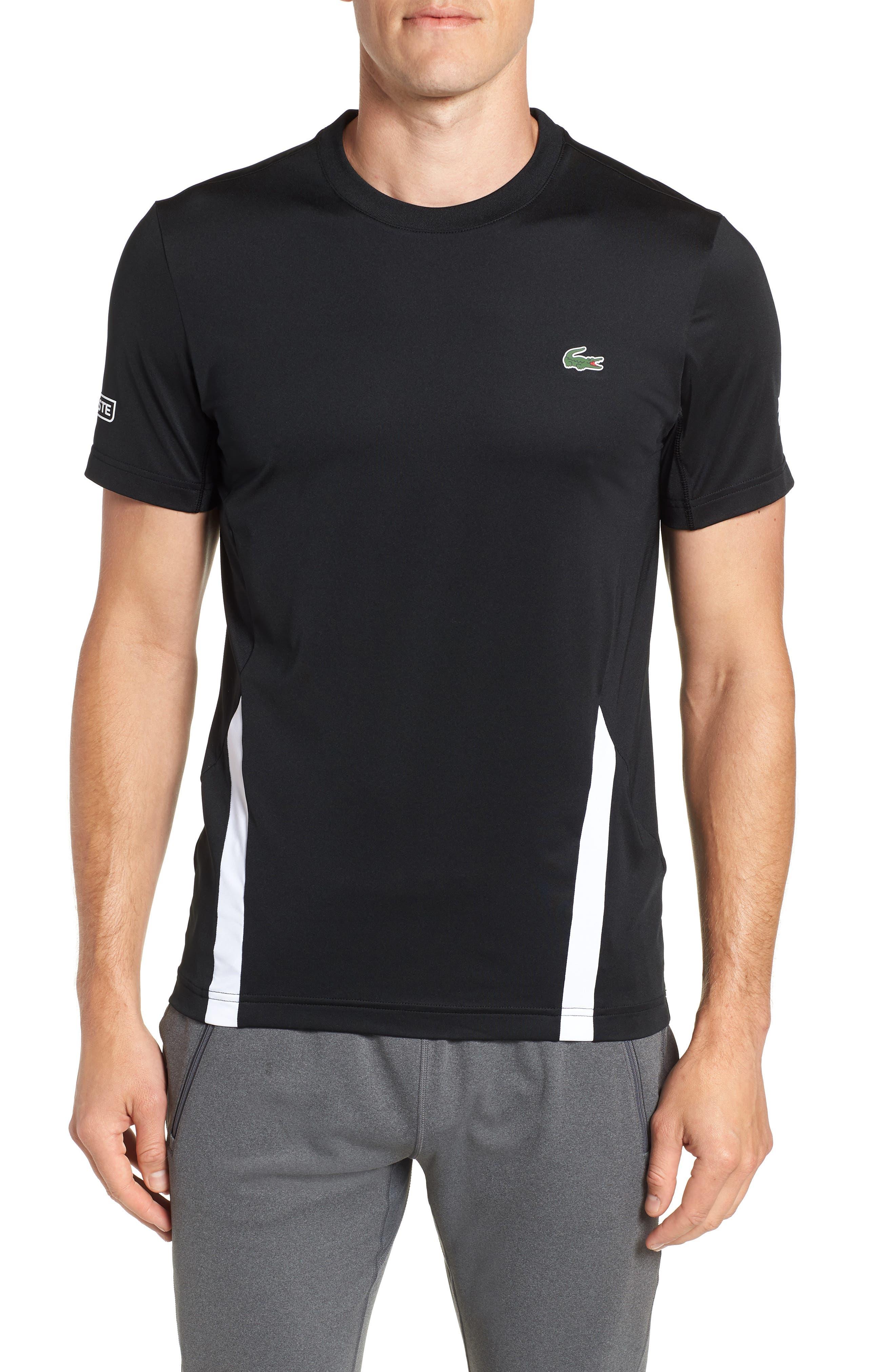 Regular Fit Novak Performance T-Shirt,                             Main thumbnail 1, color,                             BLACK/ WHITE