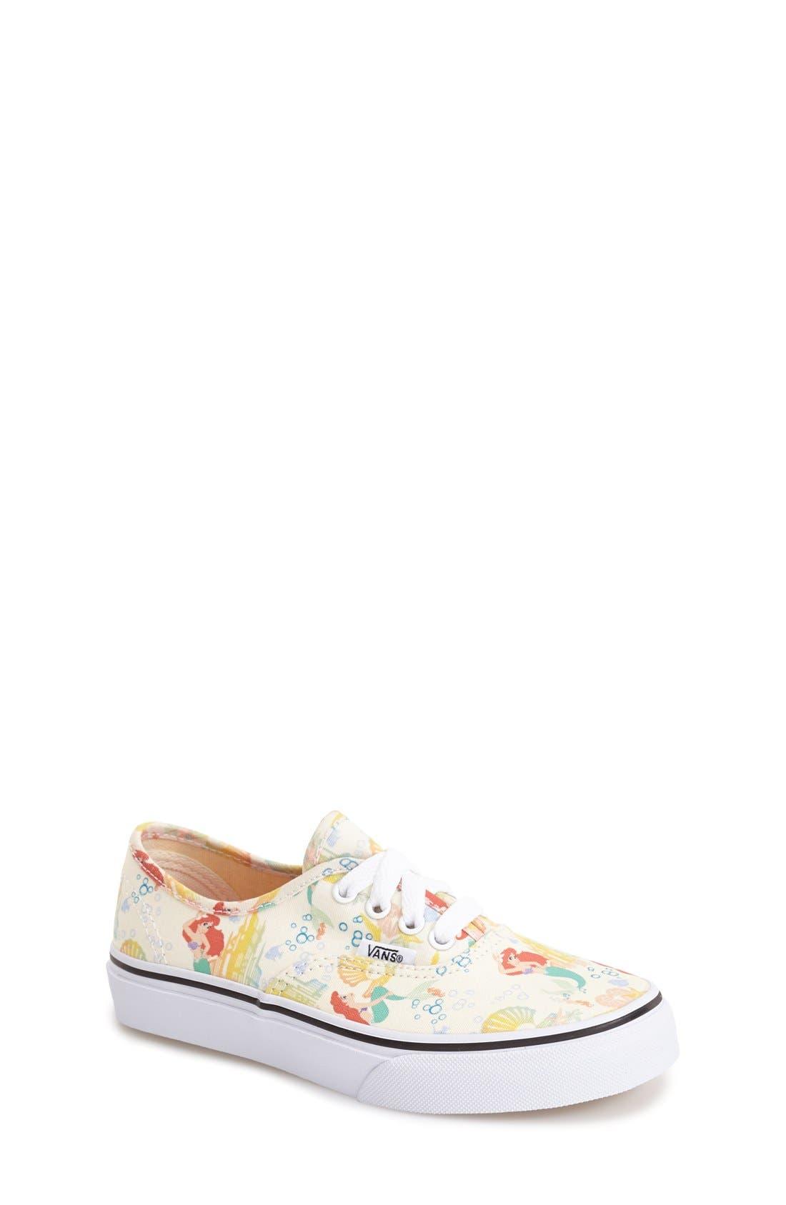 'Authentic - Disney<sup>®</sup> Ariel' Sneaker,                             Main thumbnail 1, color,                             100