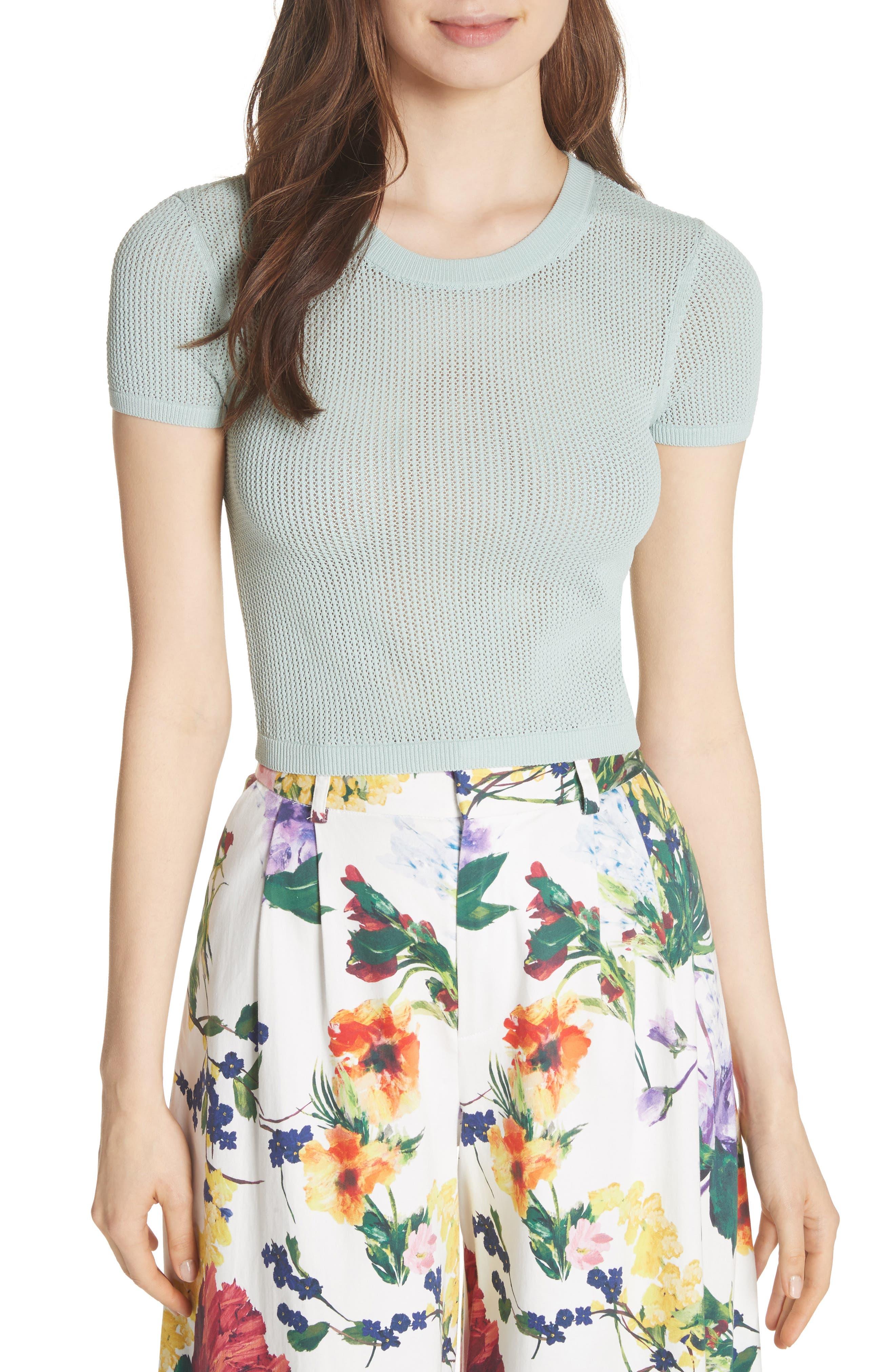 Ciara Textured Crop Top,                             Main thumbnail 1, color,                             404