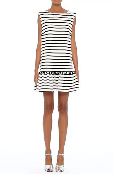 Pompom Stripe Drop Waist Dress, video thumbnail