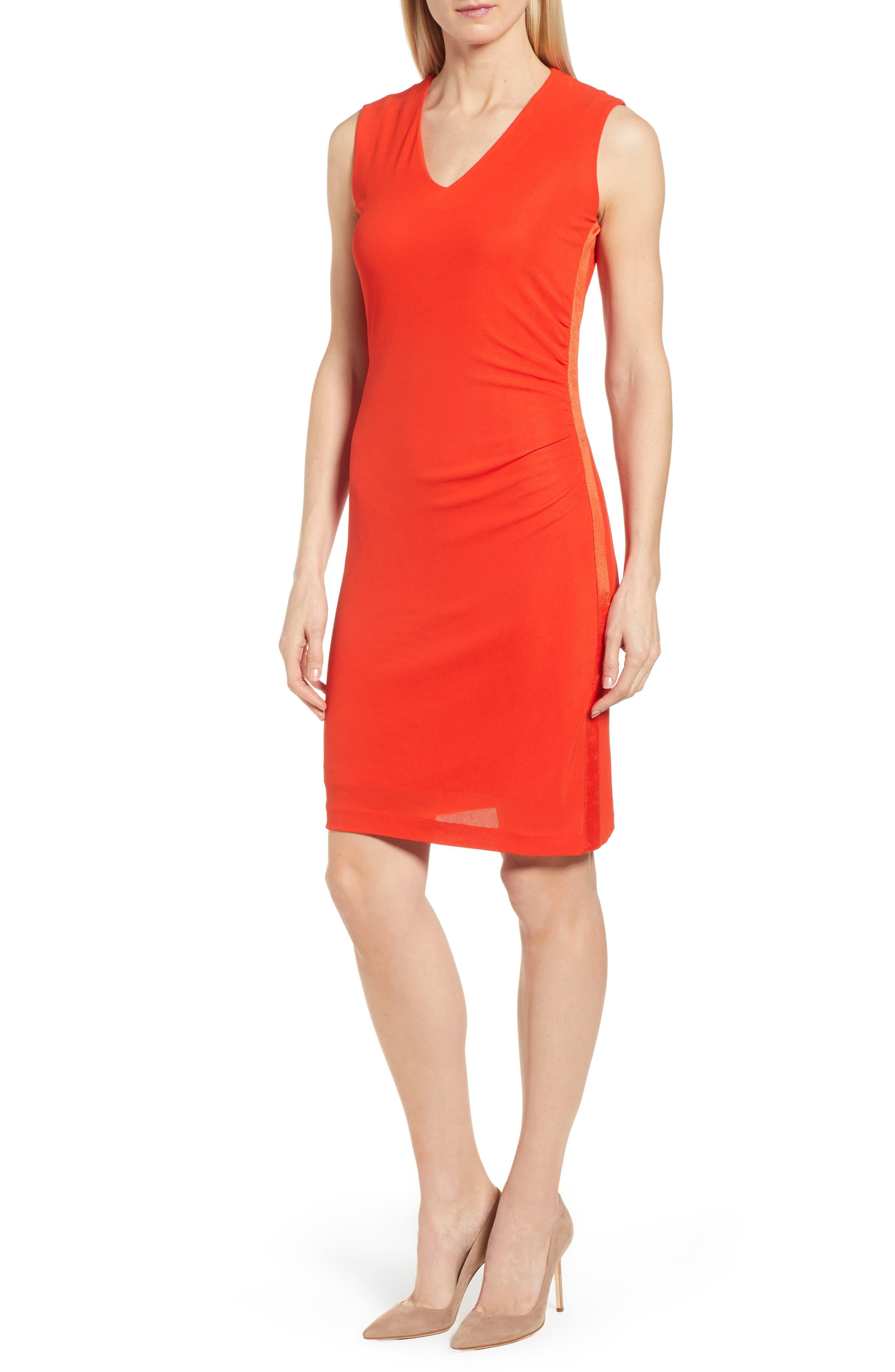 Erela Ruched Sheath Dress,                             Main thumbnail 1, color,                             824