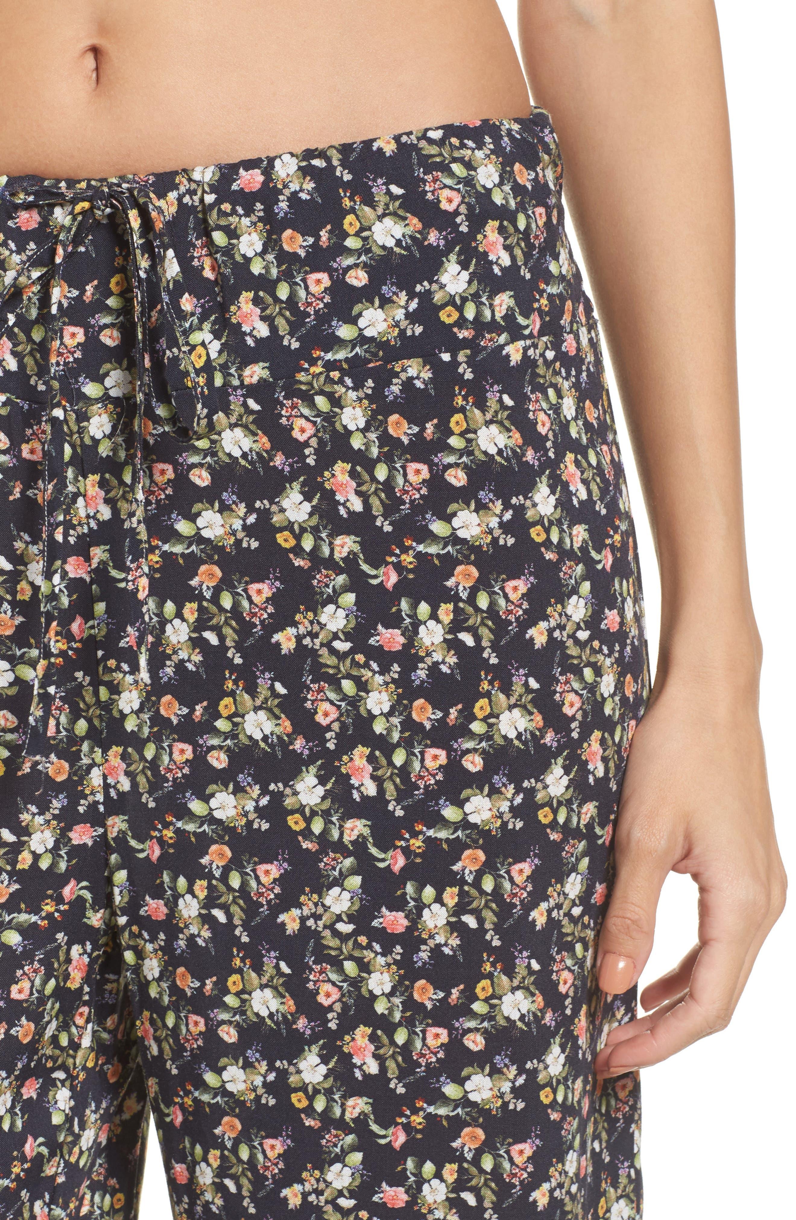 Floral Pajama Pants,                             Alternate thumbnail 4, color,                             400
