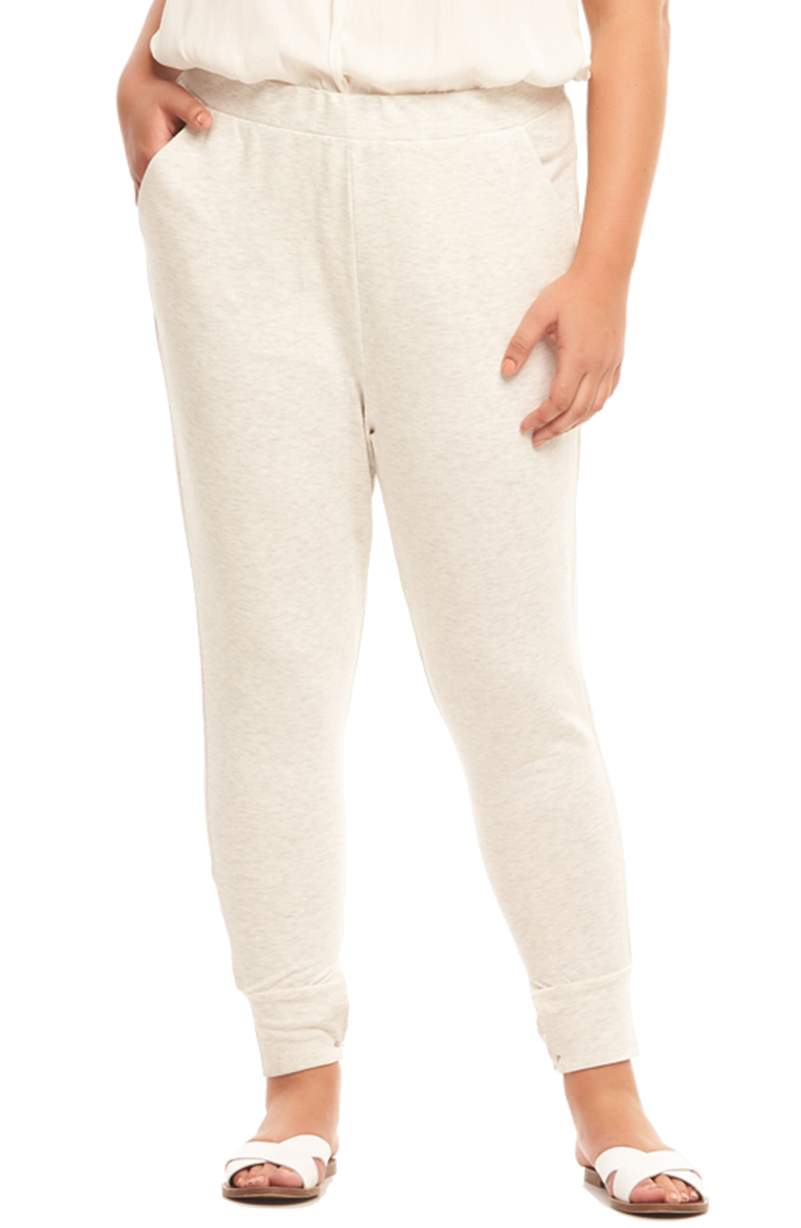 Zadie Jogger Pants,                             Alternate thumbnail 4, color,                             GREY WITH ROSE
