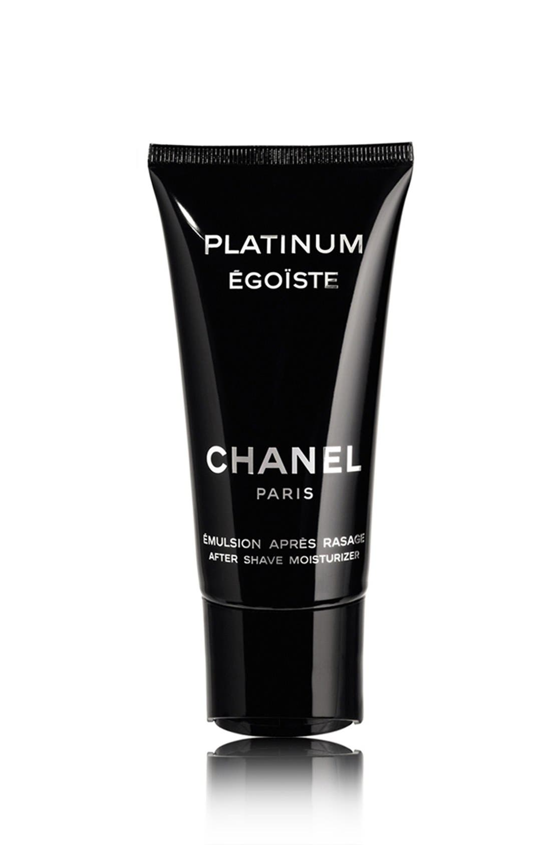 CHANEL,                             PLATINUM ÉGOÏSTE<br />After Shave Moisturizer,                             Main thumbnail 1, color,                             000