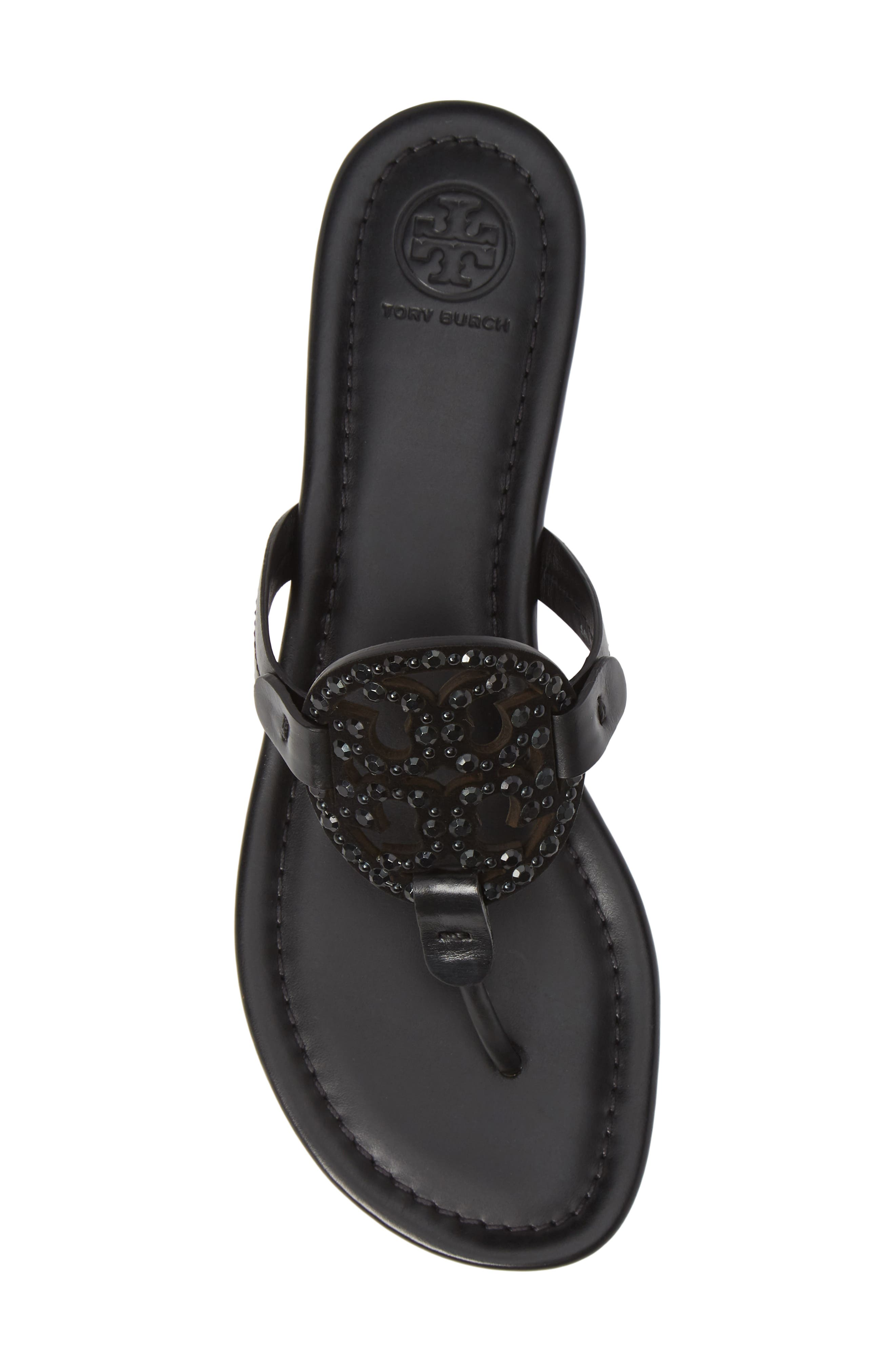 Miller Embellished Sandal,                             Alternate thumbnail 5, color,                             PERFECT BLACK