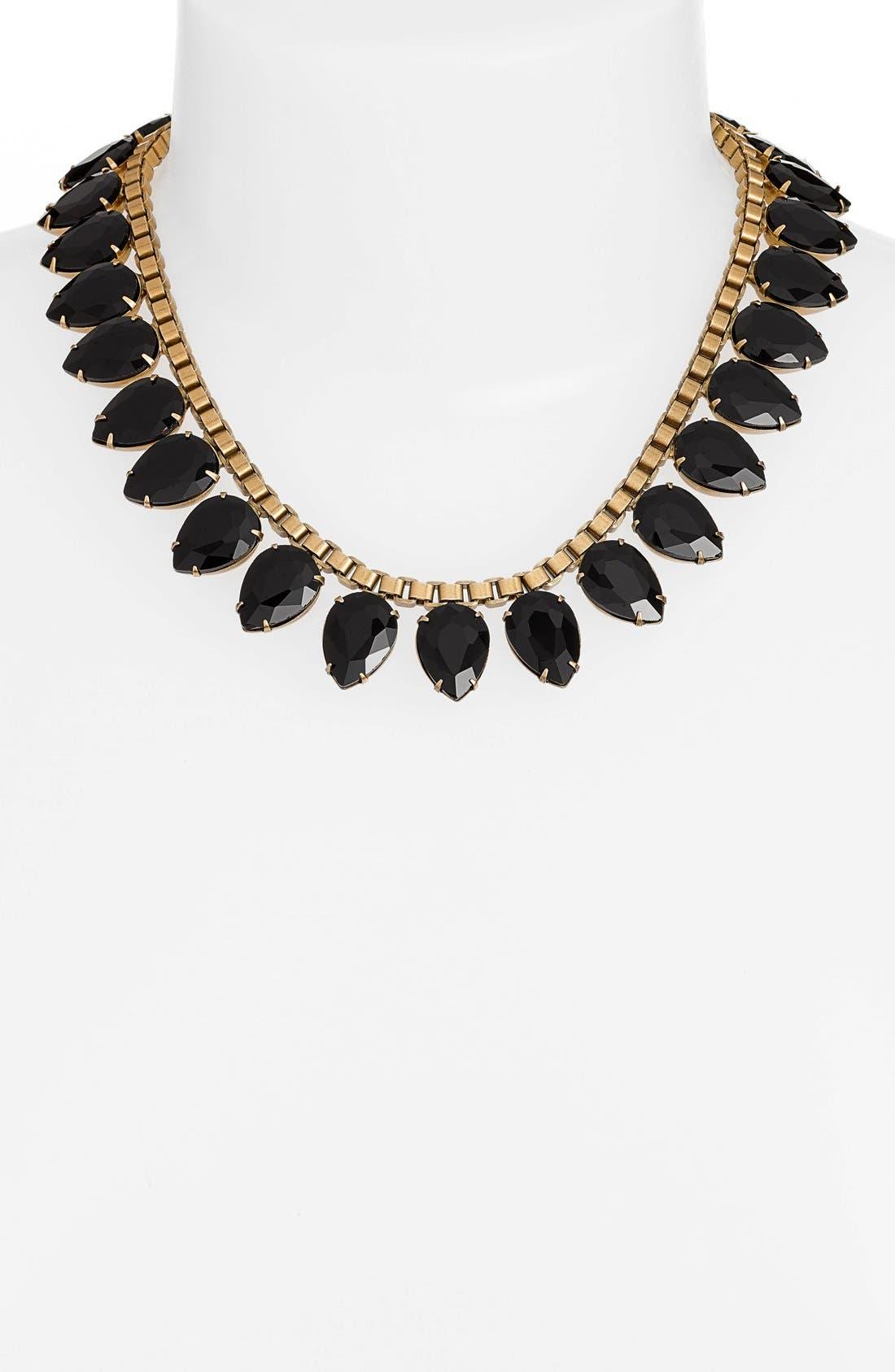 'Sylvia' Crystal Collar Necklace,                             Alternate thumbnail 3, color,                             001