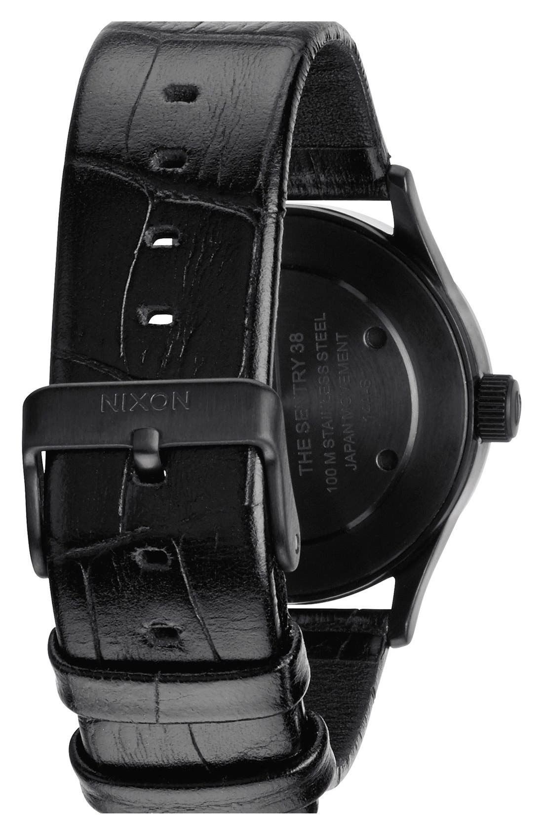 'The Sentry 38' Leather Strap Watch, 38mm,                             Alternate thumbnail 32, color,