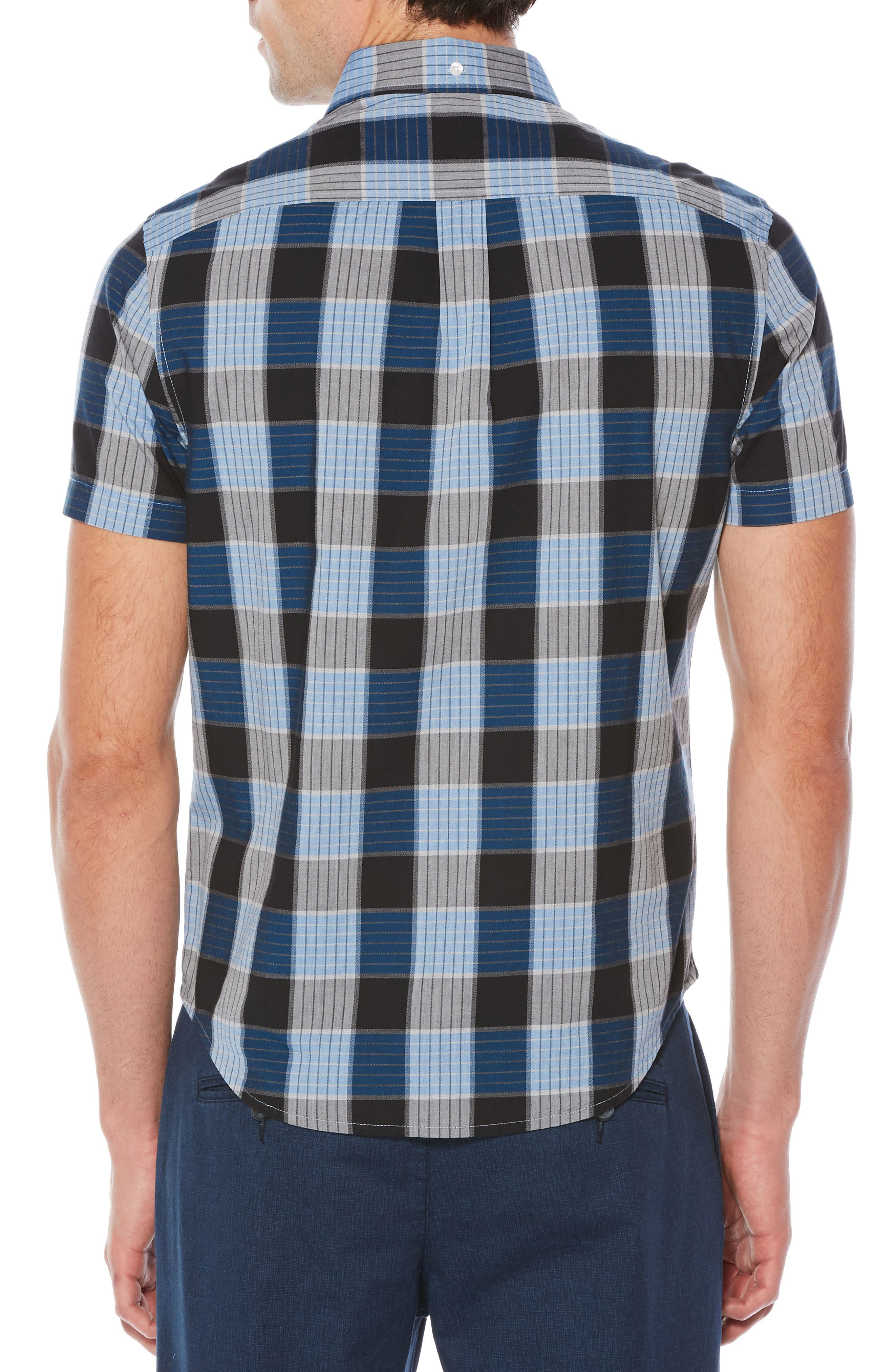 Jaspé Plaid Slim Fit Shirt,                             Alternate thumbnail 2, color,                             403