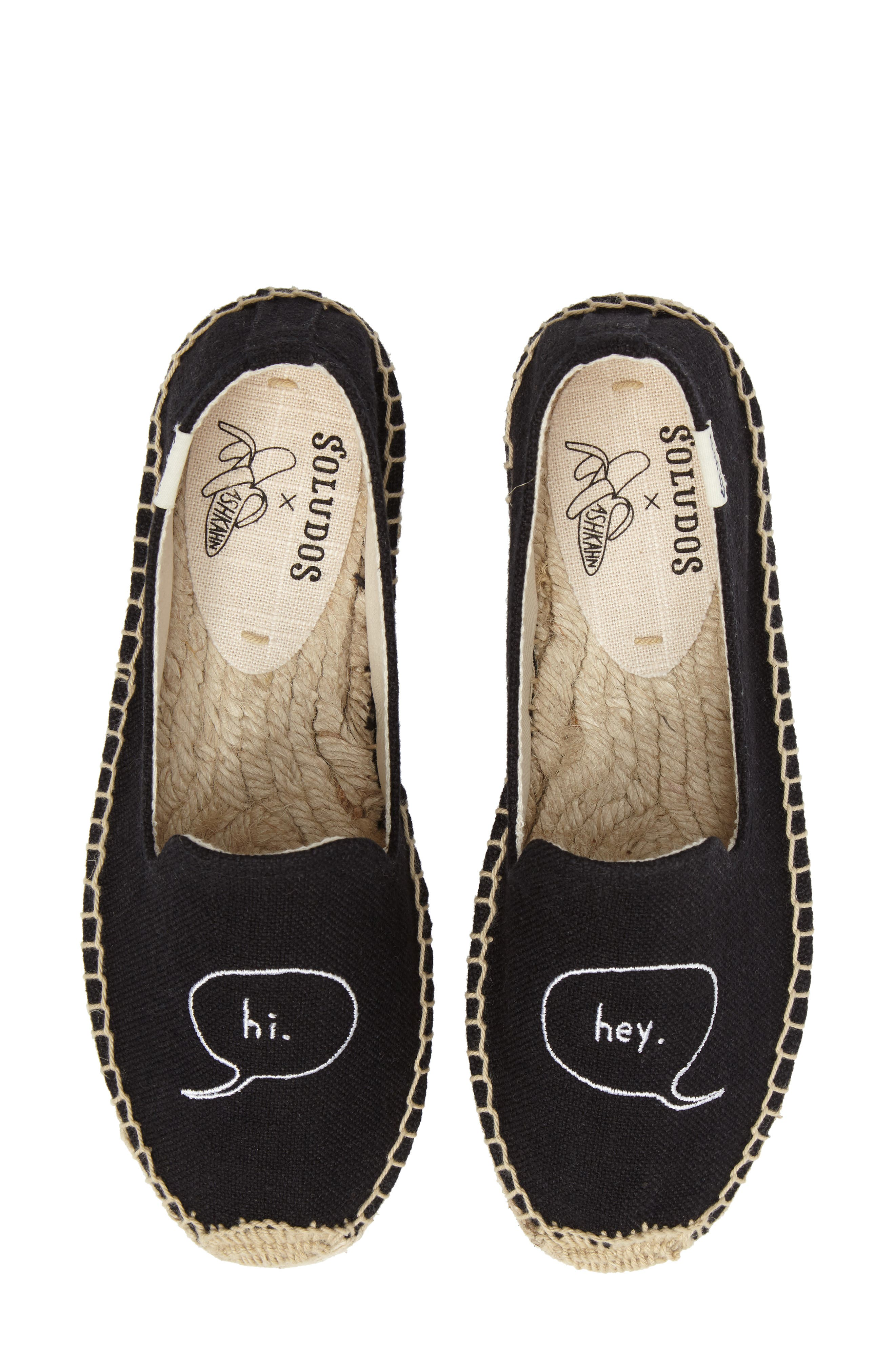 x ASHKAHN Embroidered Platform Espadrille,                         Main,                         color,