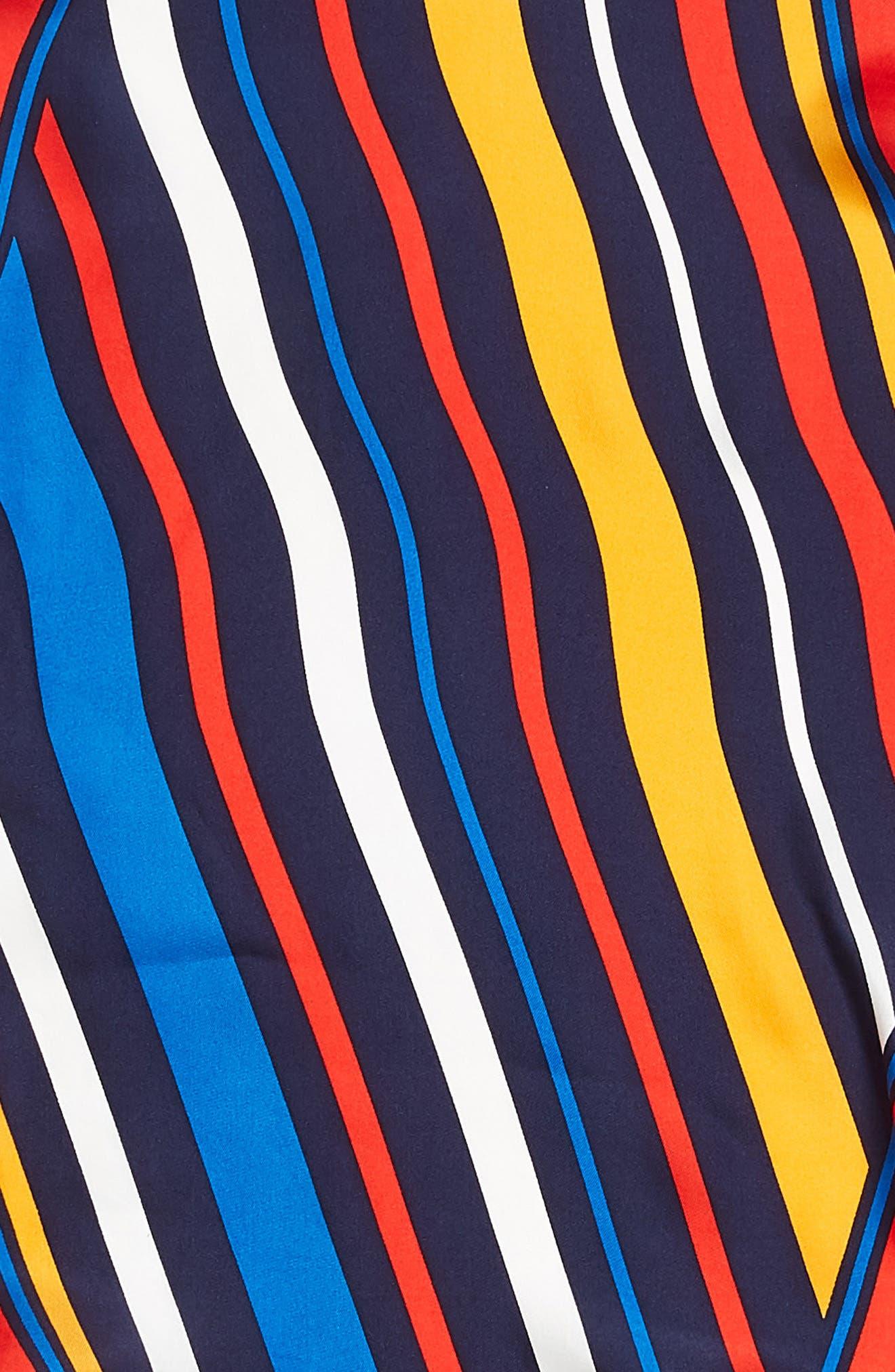 Cabana Stripe Diamond Silk Scarf,                             Alternate thumbnail 4, color,                             411