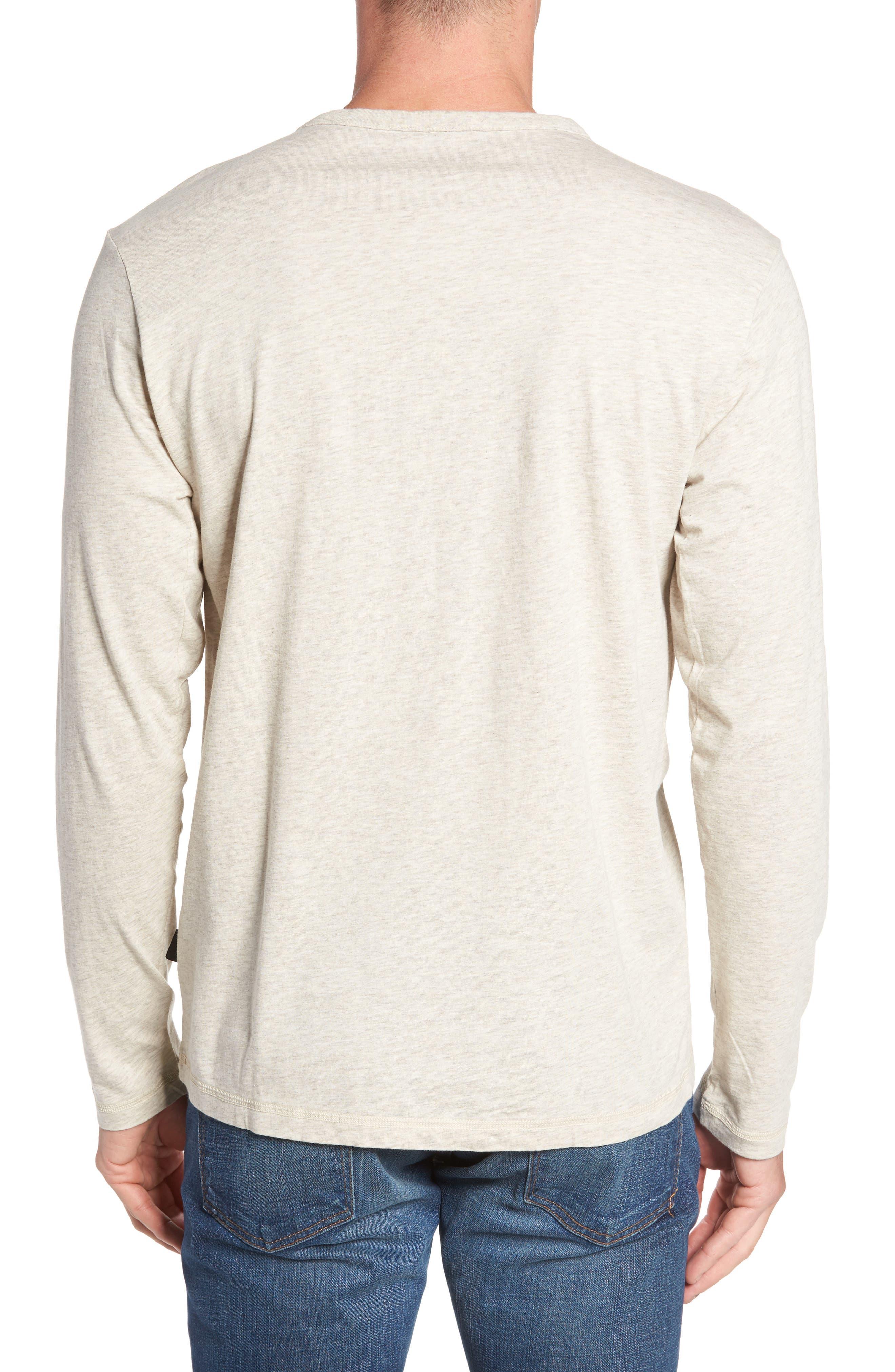 'Daily' Long Sleeve Organic Cotton Henley,                             Alternate thumbnail 2, color,                             BIRCH WHITE