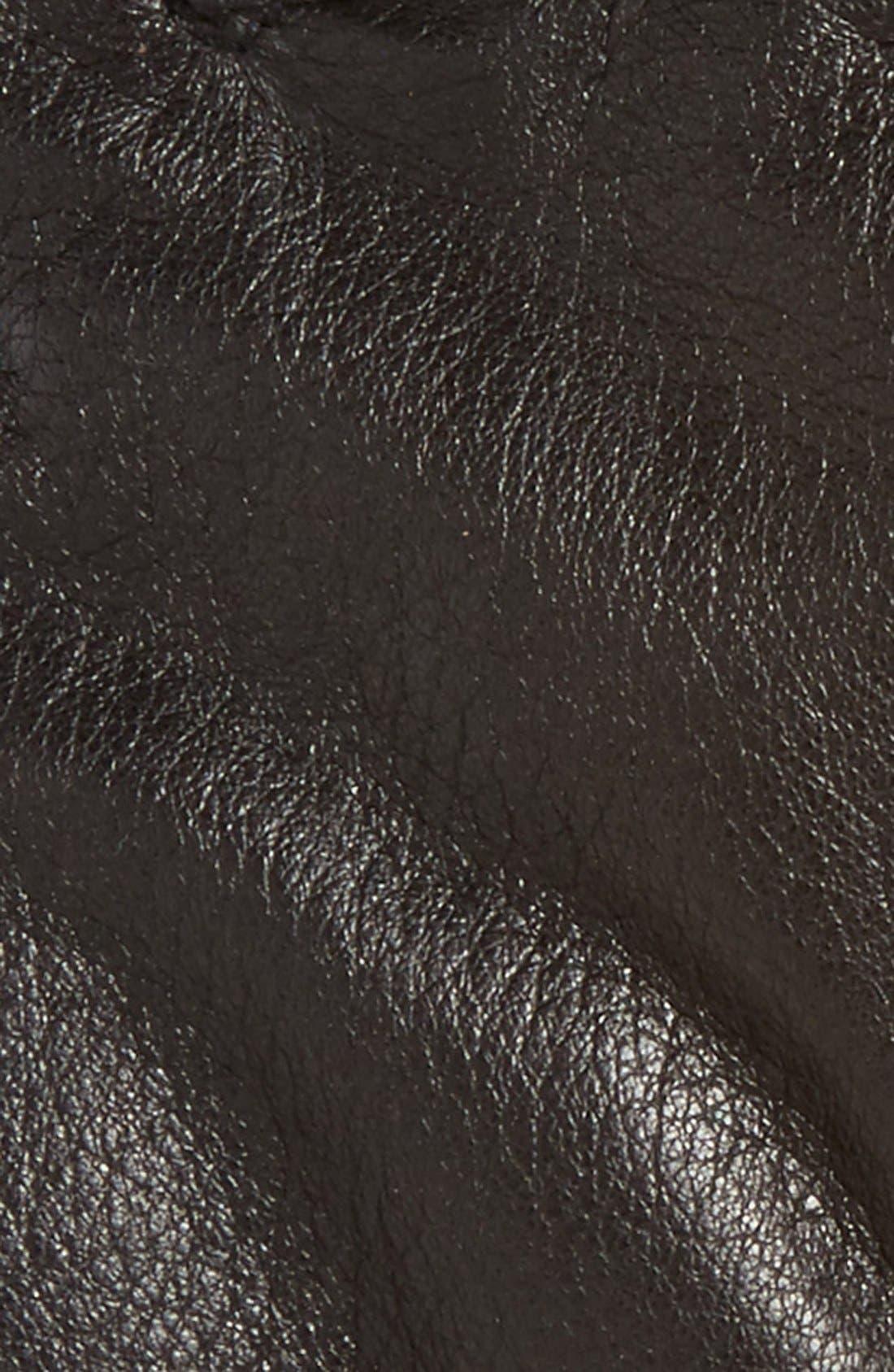 Utsjo Leather Gloves,                             Alternate thumbnail 4, color,                             001