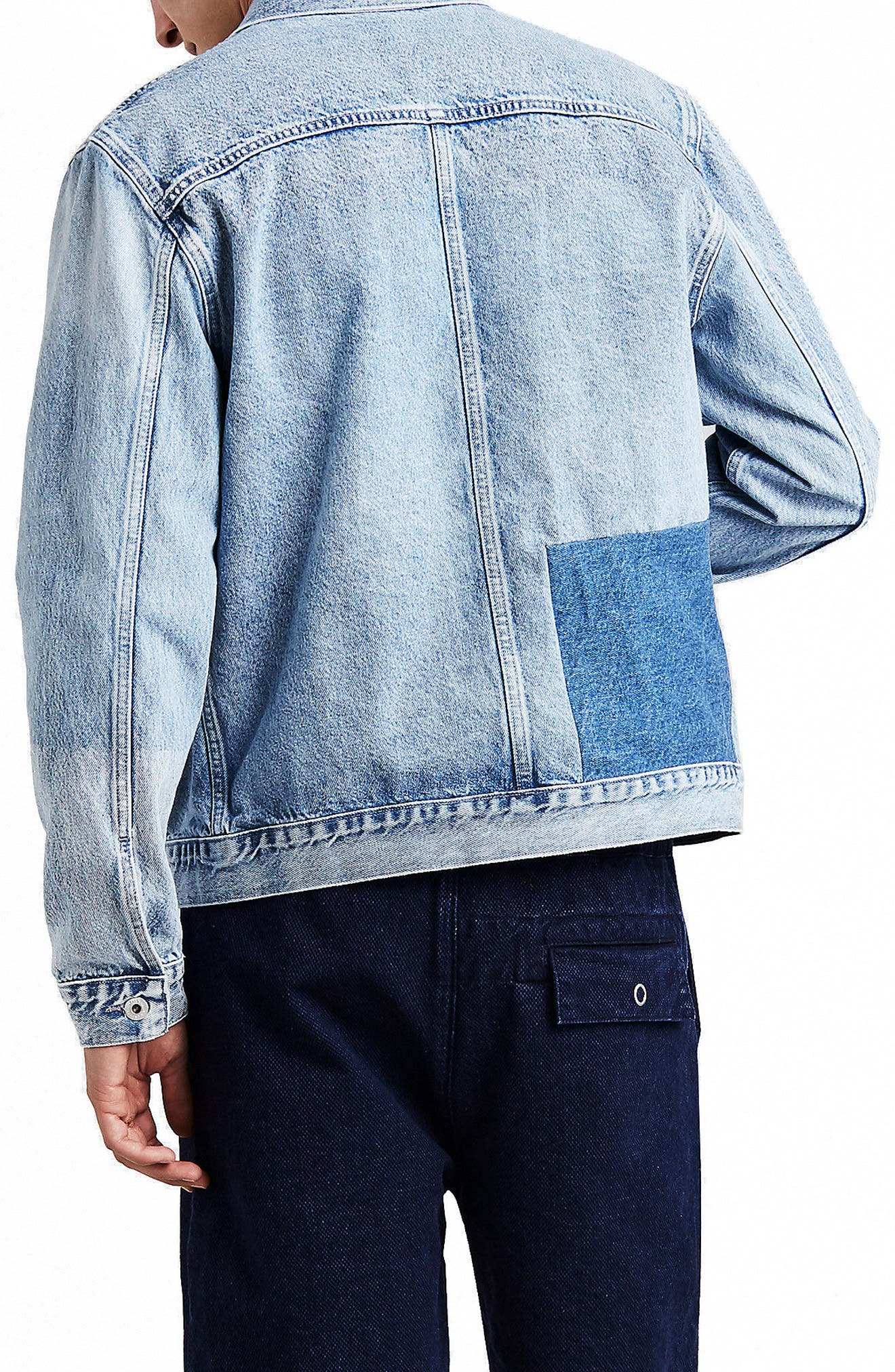 LEVI'S<SUP>®</SUP> MADE & CRAFTED<SUP>™</SUP>,                             Type IV Trucker Standard Fit Denim Jacket,                             Alternate thumbnail 2, color,                             420