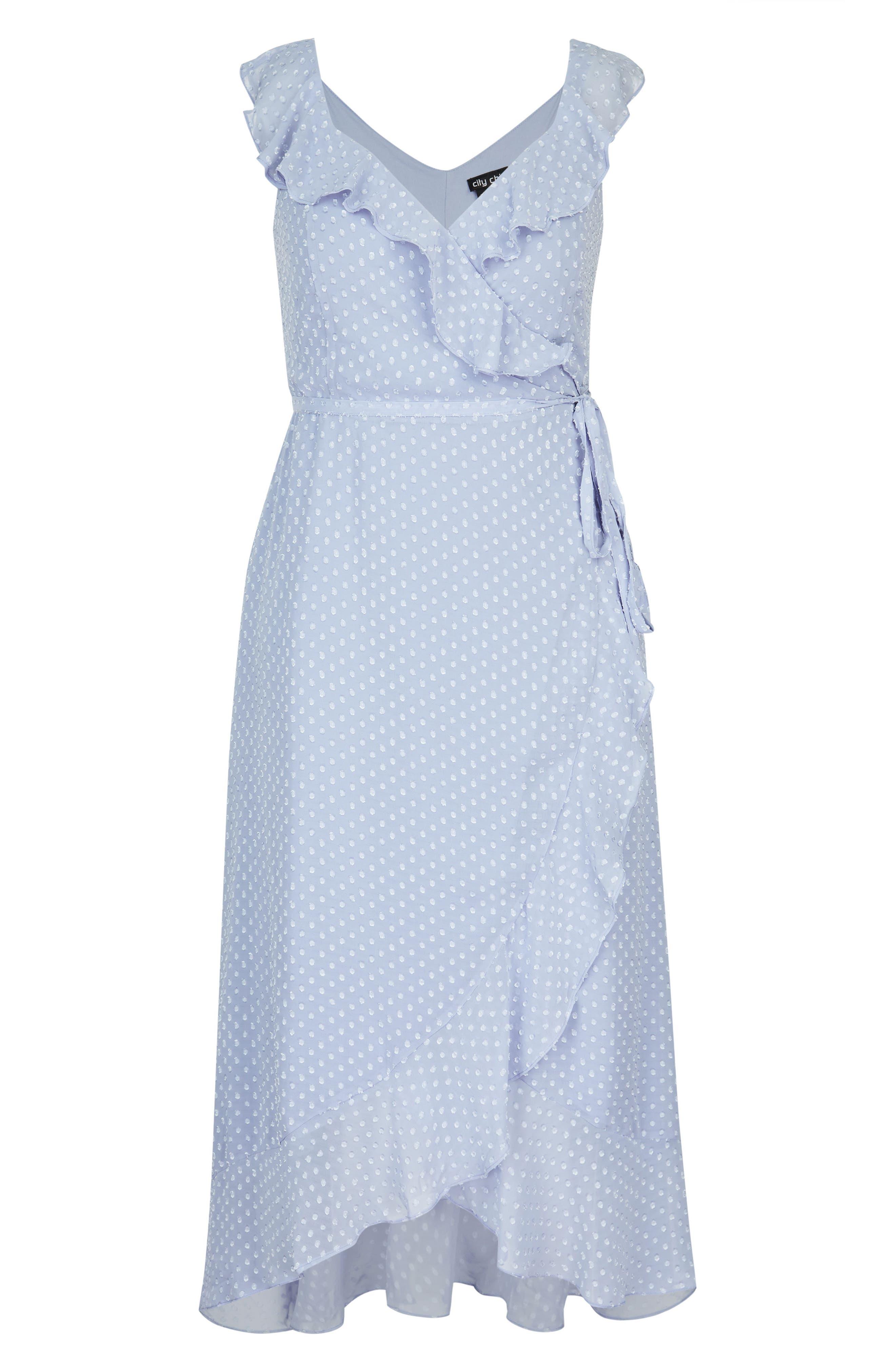 Dot Fil Coupé Ruffle Maxi Dress,                             Alternate thumbnail 3, color,                             514