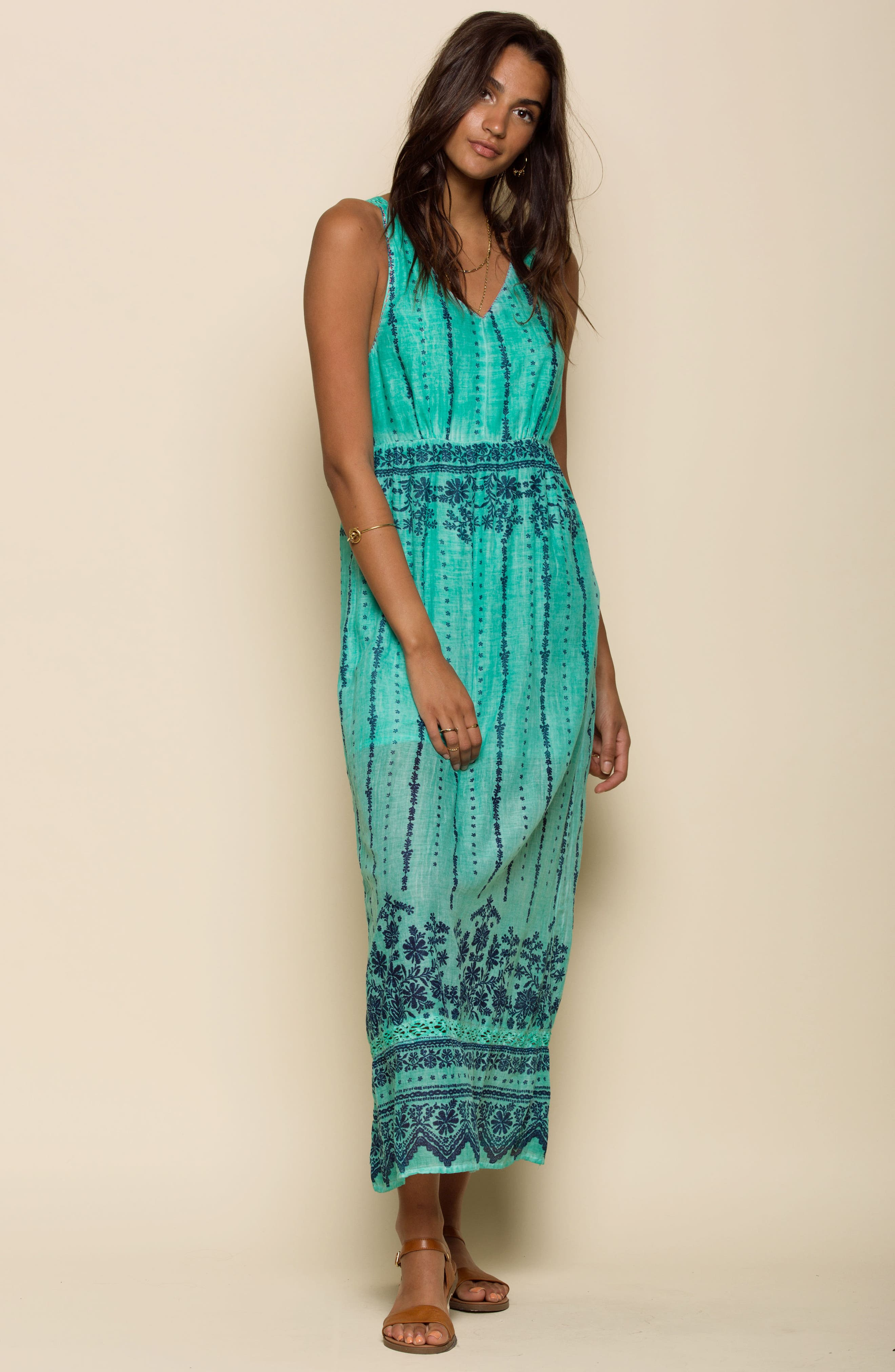 La Playita Maxi Dress,                             Alternate thumbnail 8, color,                             300