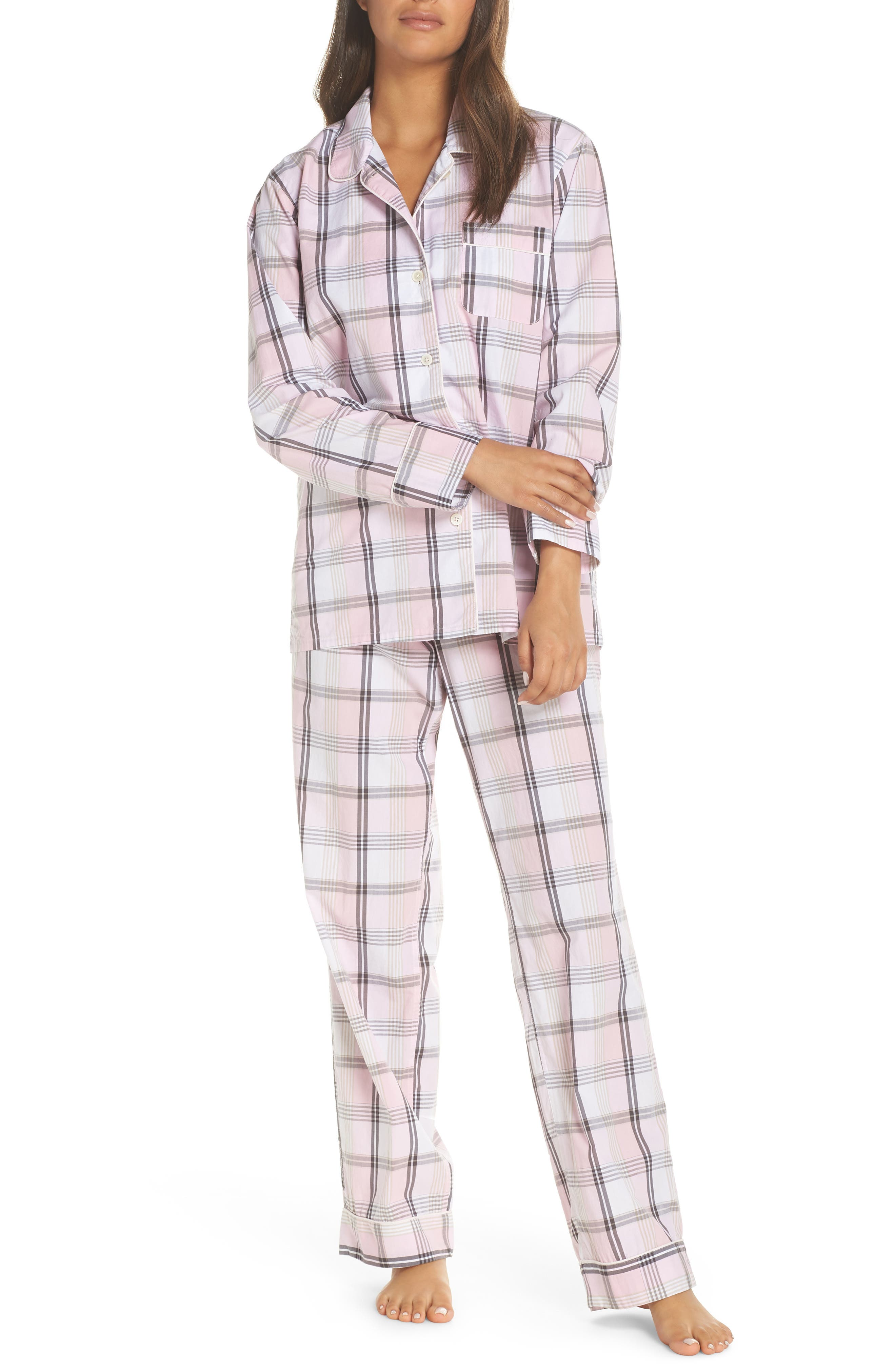 Cotton Pajamas,                             Main thumbnail 1, color,                             PINK COAL