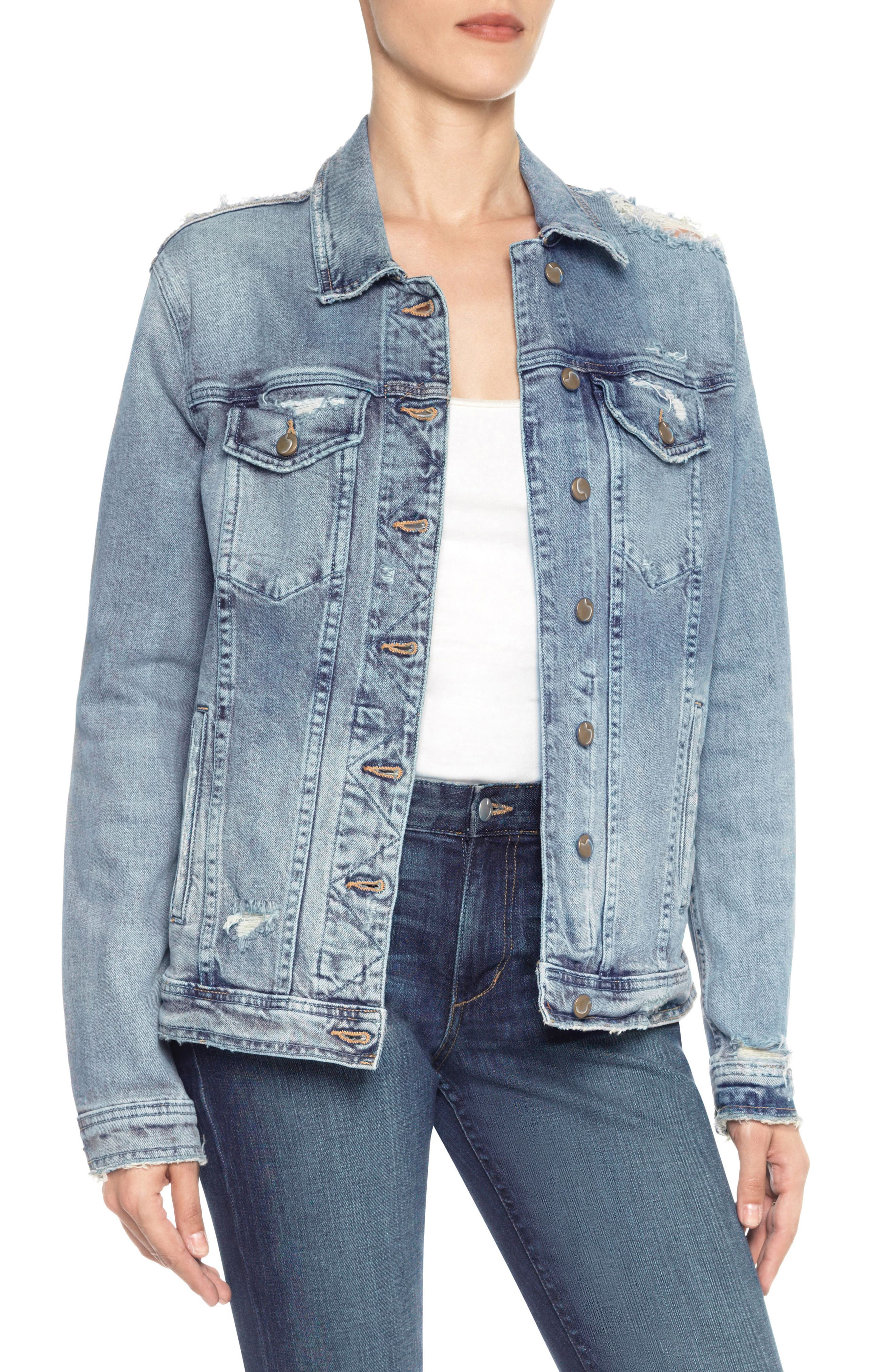 Classics Boyfriend Denim Jacket,                         Main,                         color, 430