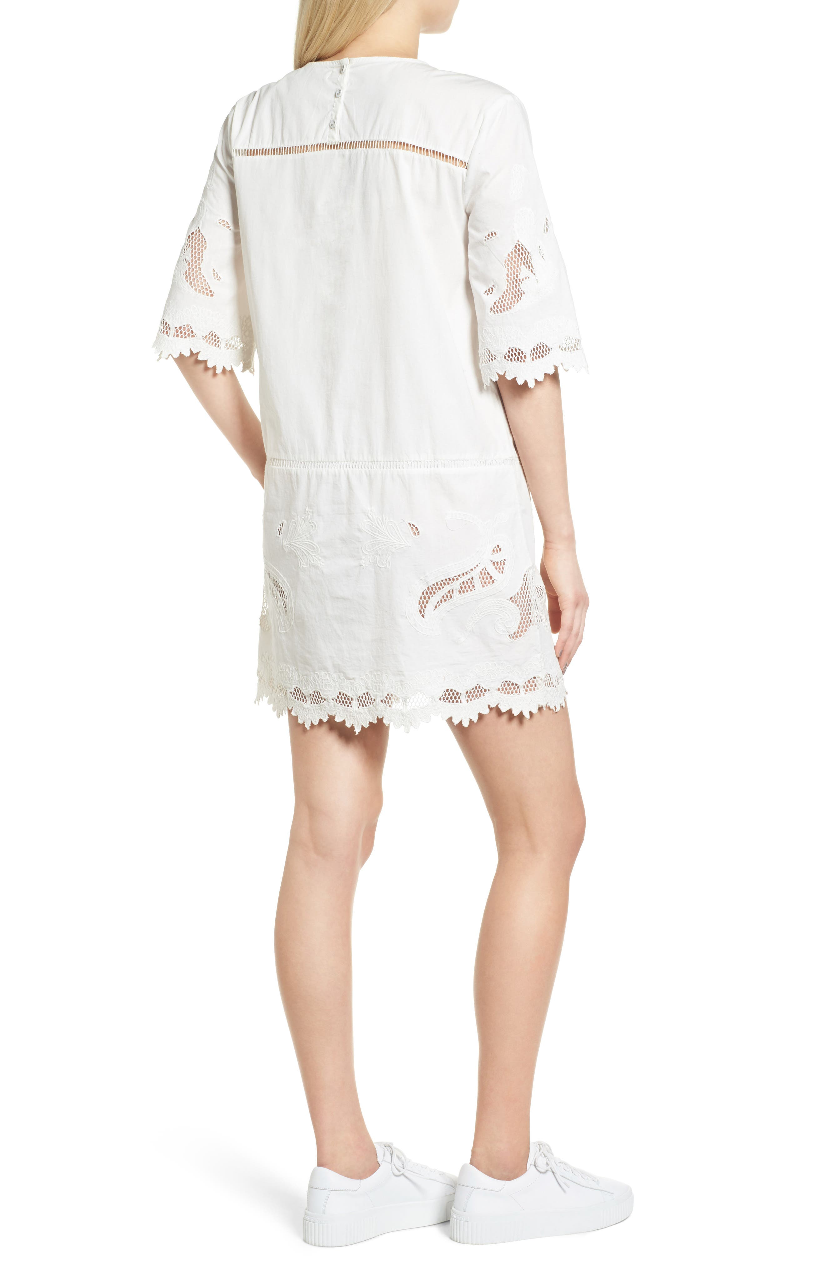 Embroidered Lace Dress,                             Alternate thumbnail 2, color,                             907