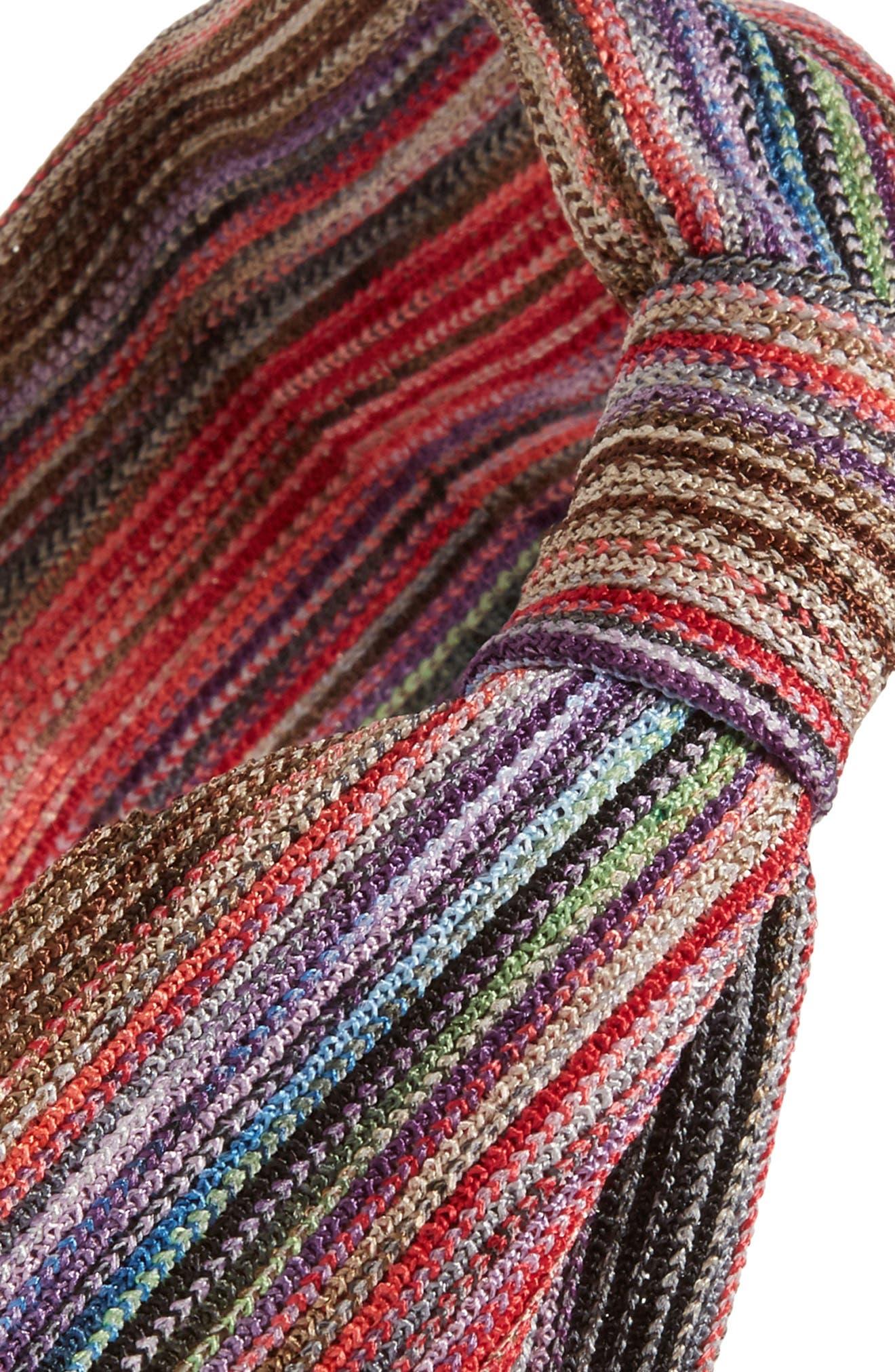 Stripe Knot Head Wrap,                             Alternate thumbnail 8, color,