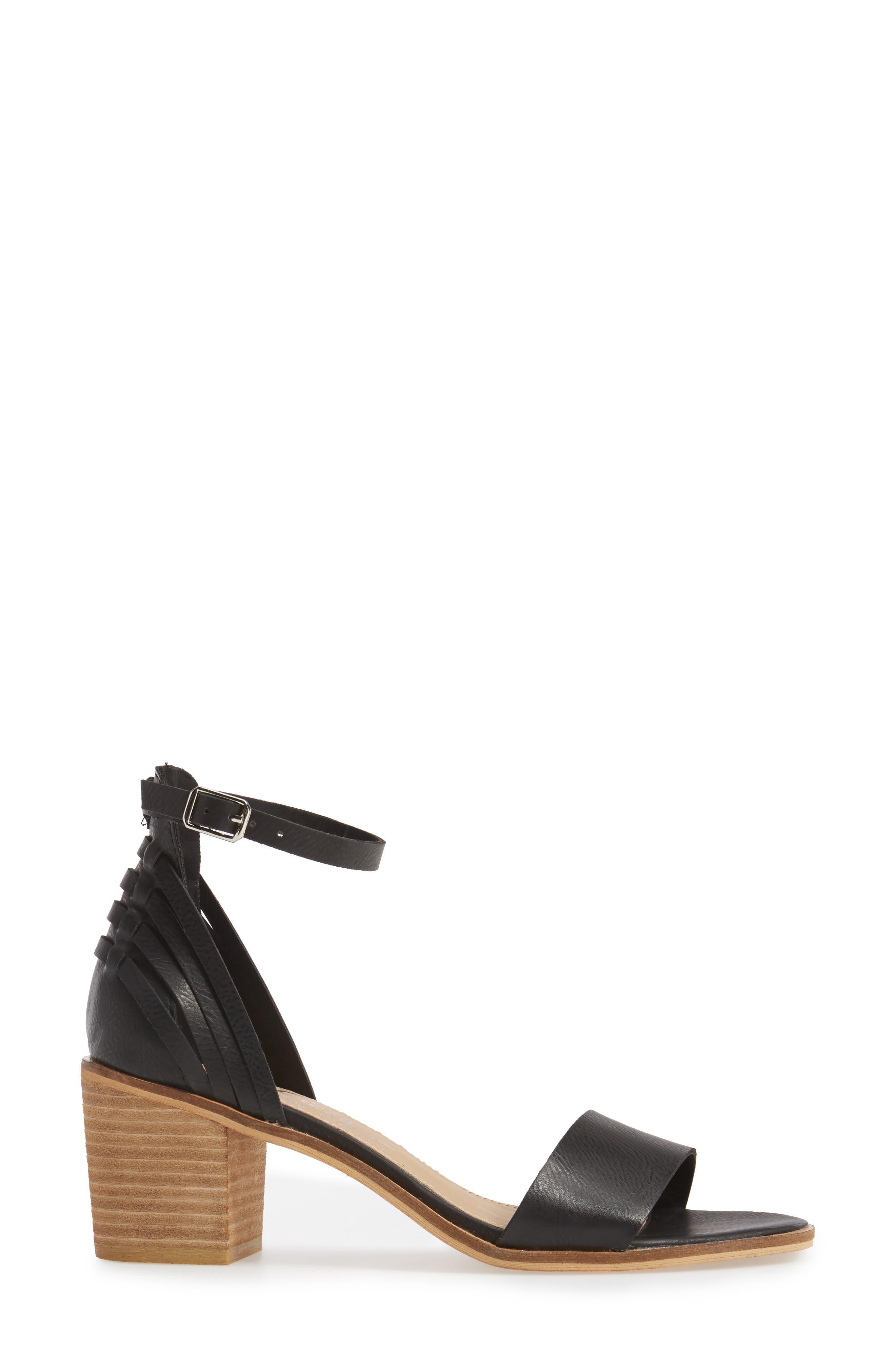 Fars Block Heel Sandal,                             Alternate thumbnail 3, color,                             001