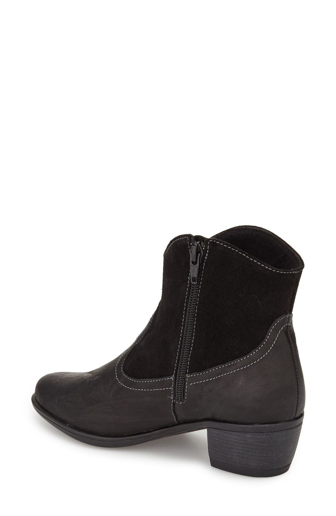 Laramie Bootie,                             Alternate thumbnail 2, color,                             BLACK LEATHER