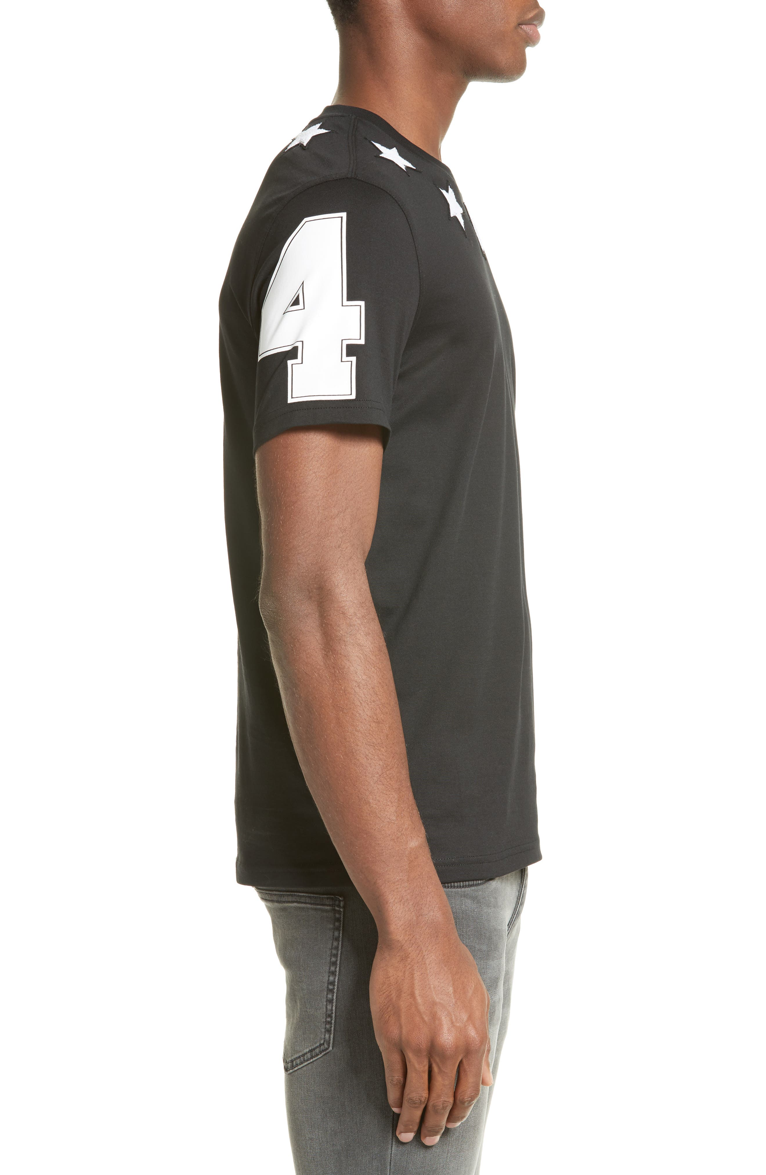 Star 74 T-Shirt,                             Alternate thumbnail 3, color,                             001
