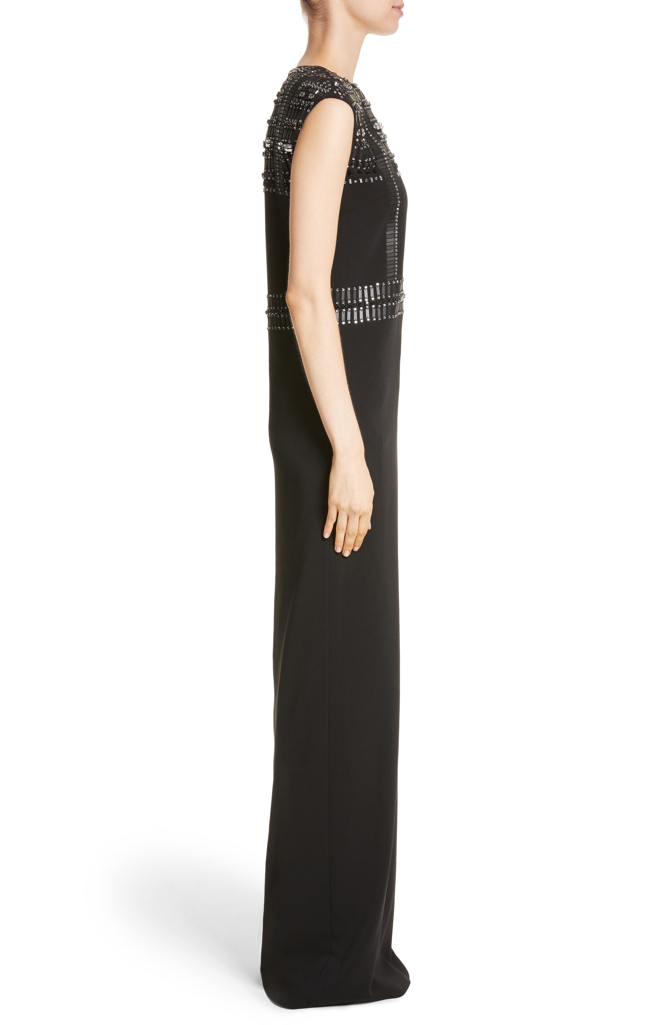 Cady Column Gown,                             Alternate thumbnail 3, color,