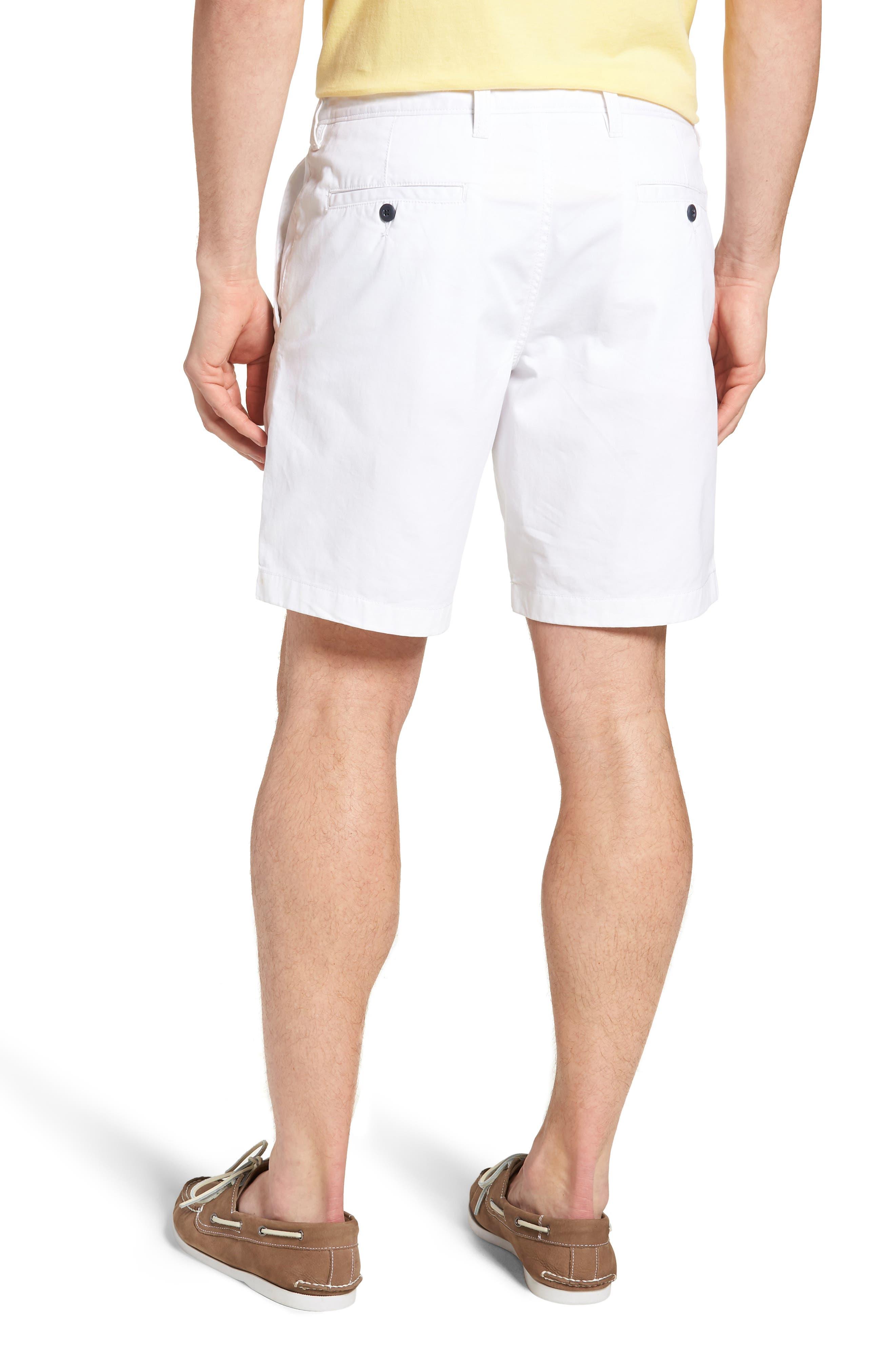 Ballard Slim Fit Stretch Chino 9-Inch Shorts,                             Alternate thumbnail 2, color,                             WHITE