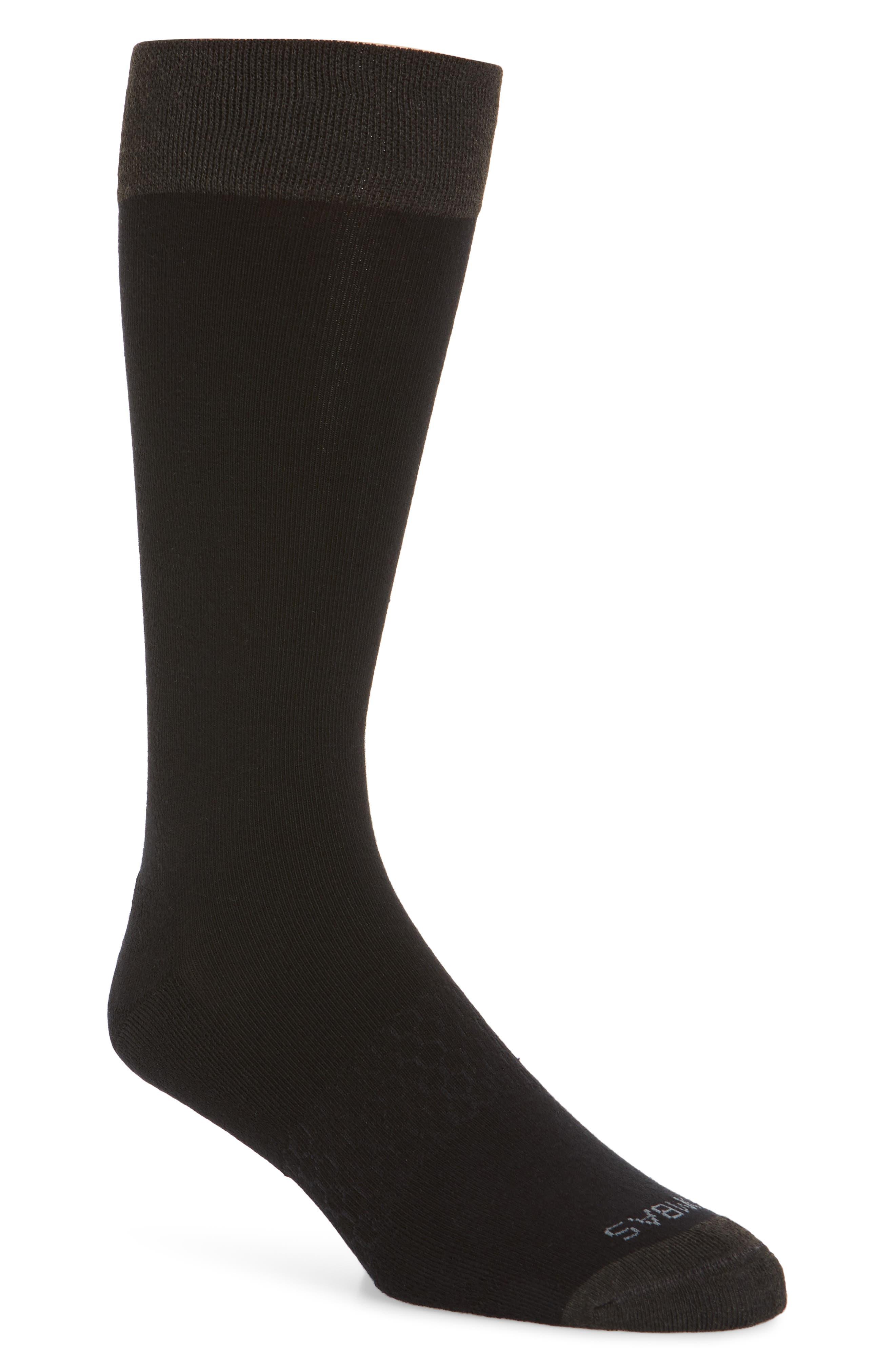 Solid Dress Socks,                             Main thumbnail 1, color,                             001