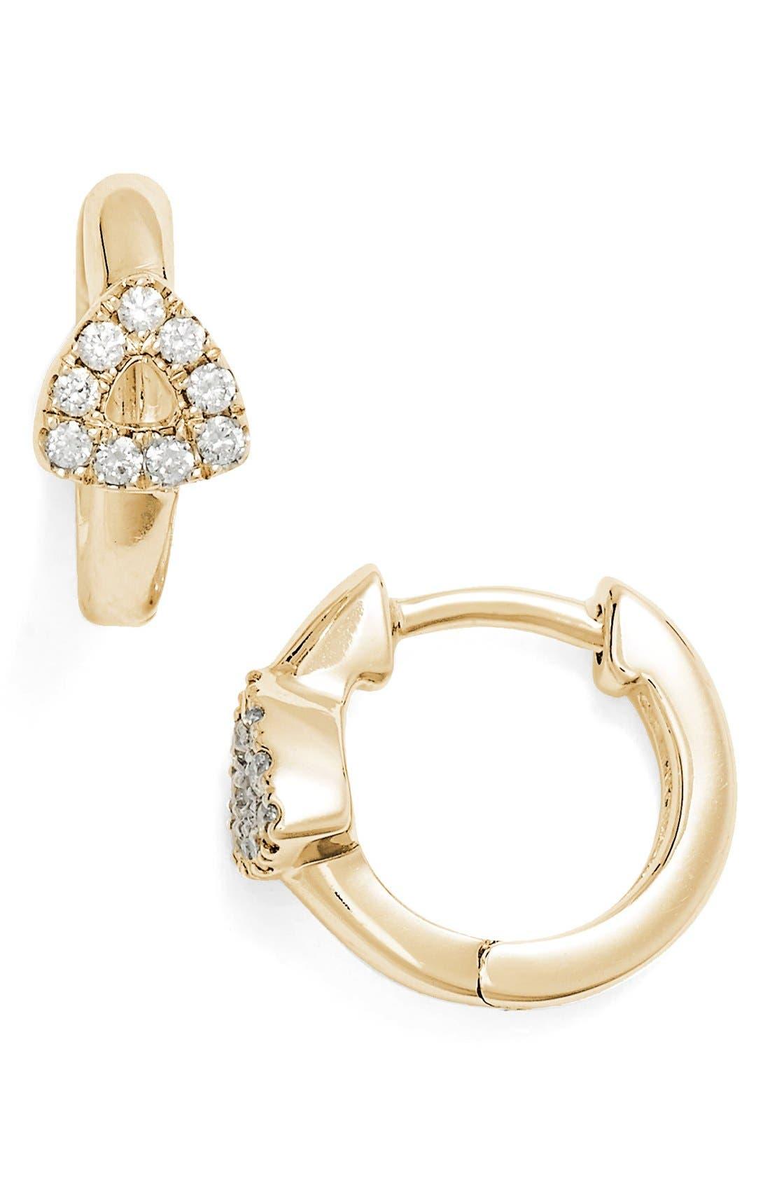 DANA REBECCA DESIGNS Open Triangle Hoop Earrings, Main, color, 710