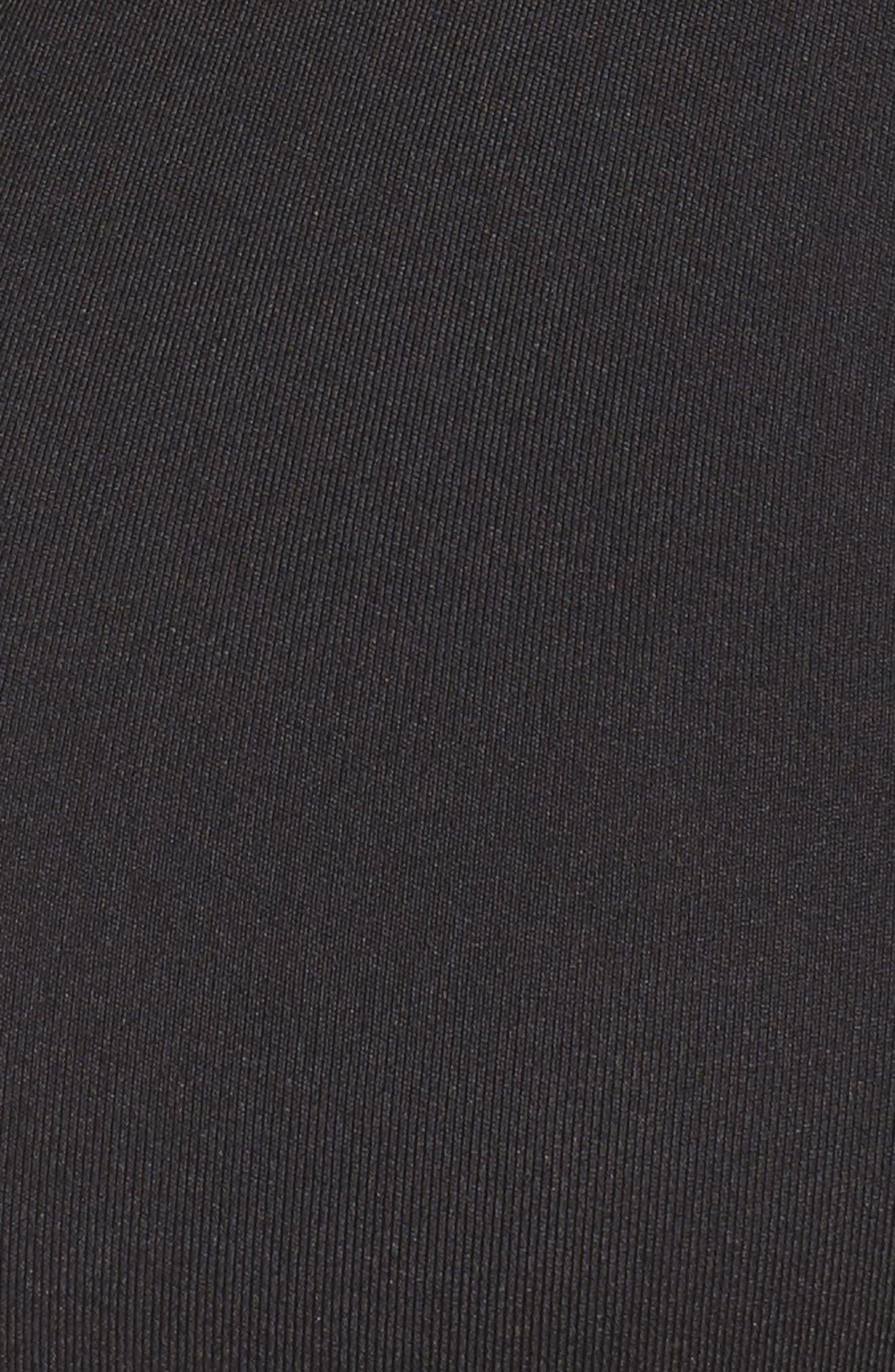 scalloped sports bra,                             Alternate thumbnail 6, color,                             BLACK