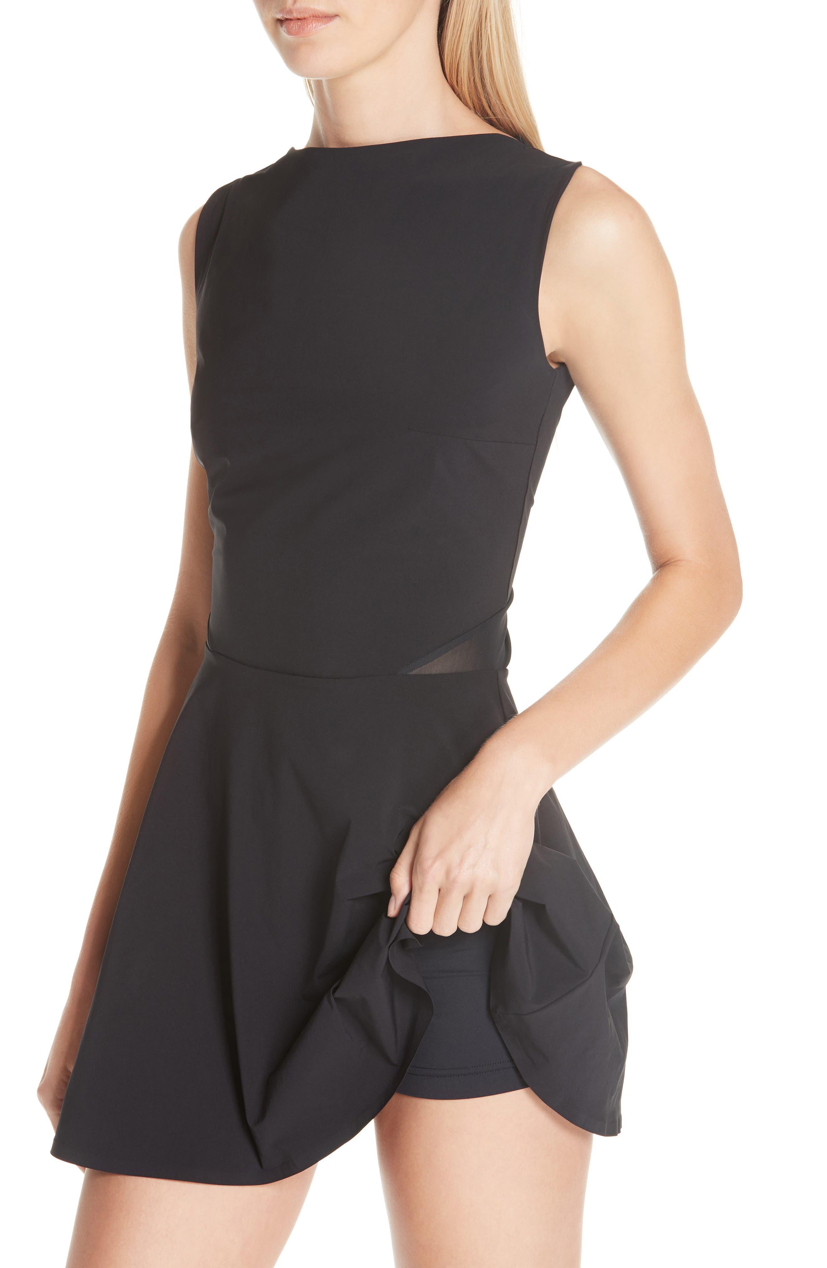 Grand Slam Dress,                             Alternate thumbnail 4, color,                             BLACK