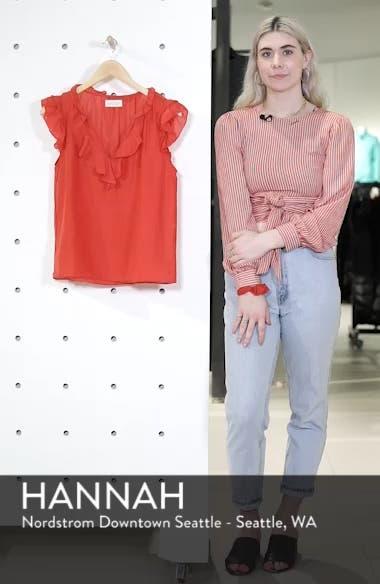 Silk and Cotton Ruffled Top, sales video thumbnail