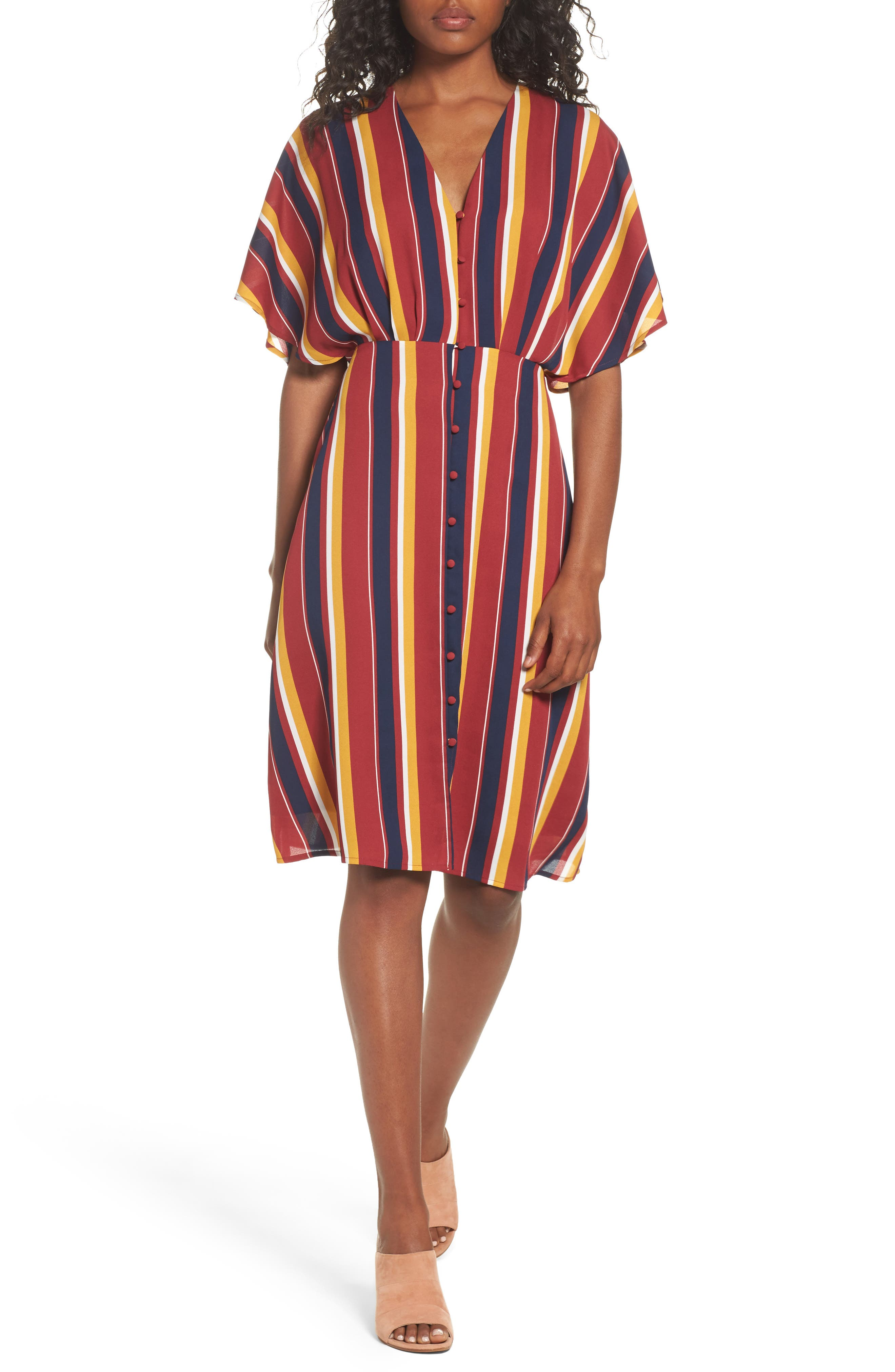 Dreamer Stripe Dress,                             Main thumbnail 1, color,                             646