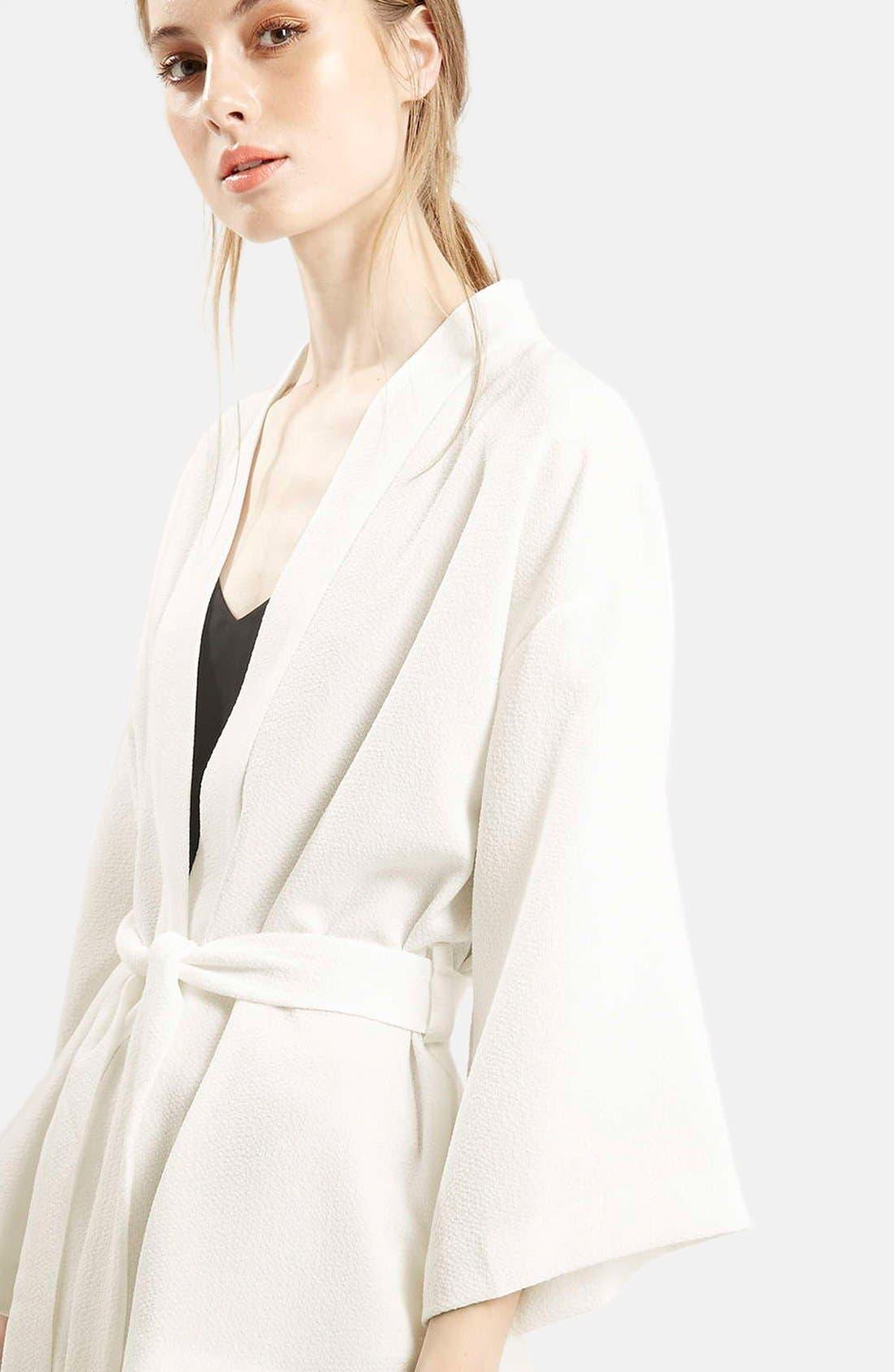 Belted Kimono Jacket,                             Alternate thumbnail 2, color,                             900