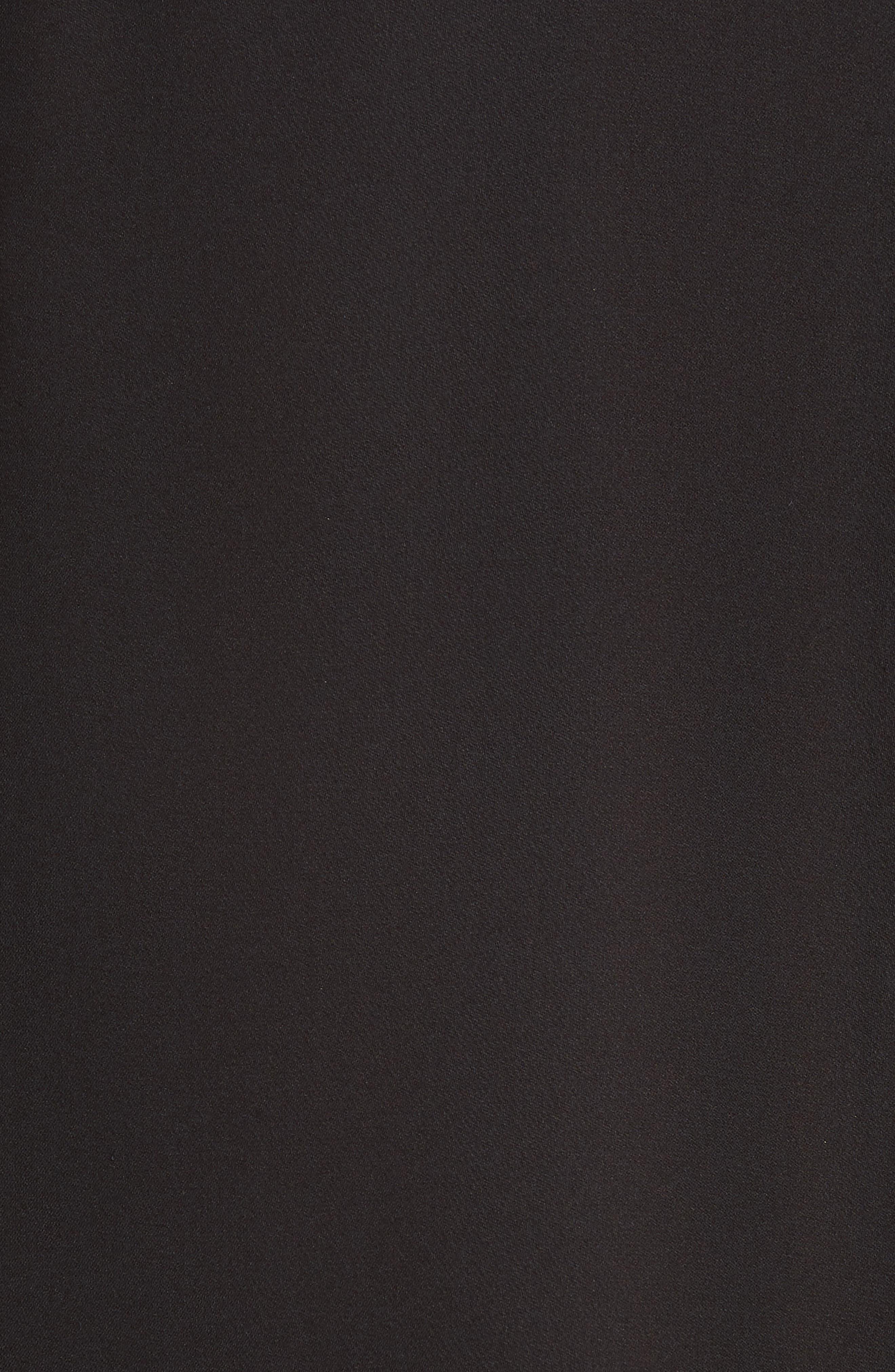 Mila Draped Silk Surplice Blouse,                             Alternate thumbnail 5, color,                             BLACK