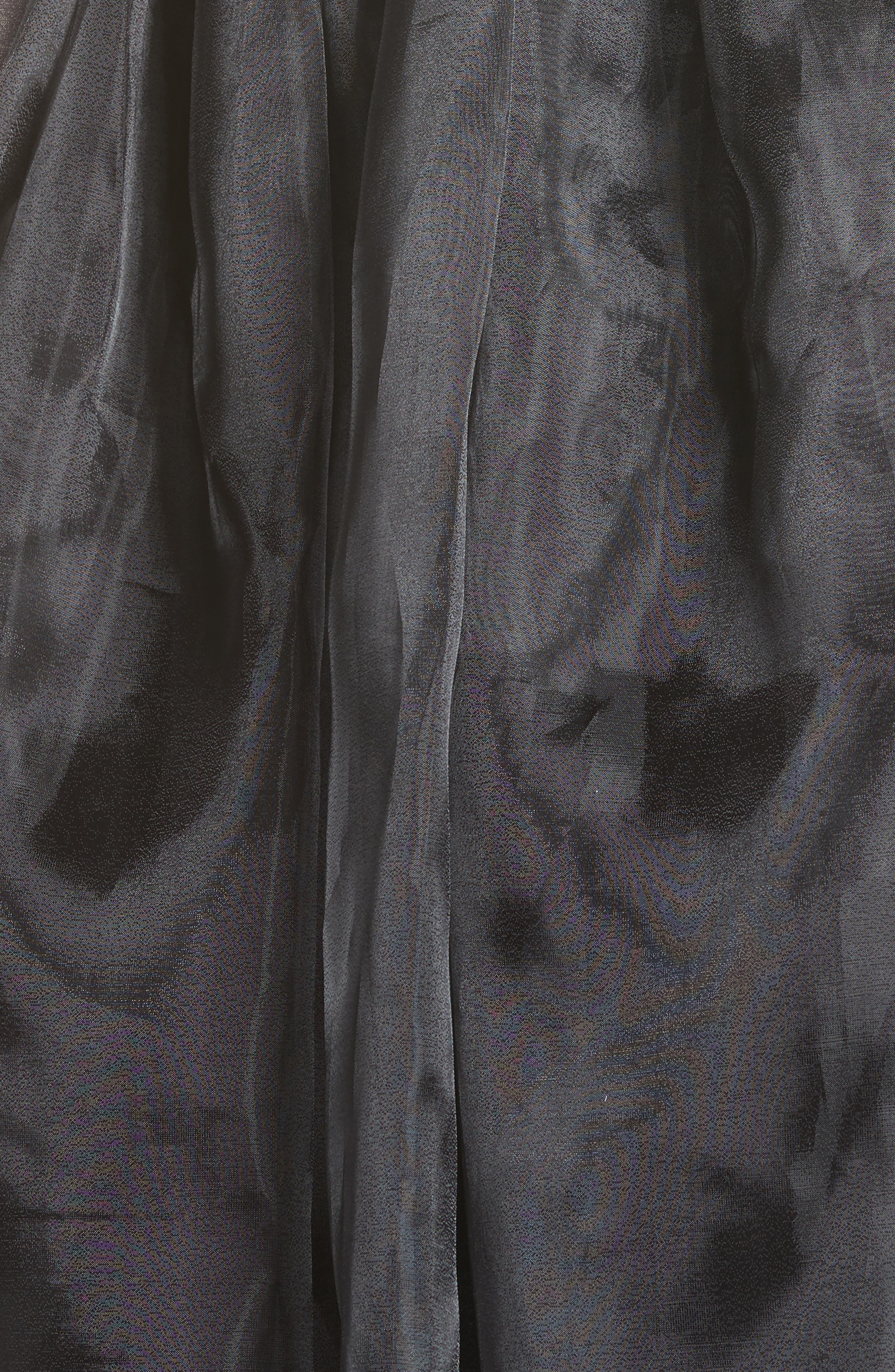 Addison Tulle Dress,                             Alternate thumbnail 6, color,                             001