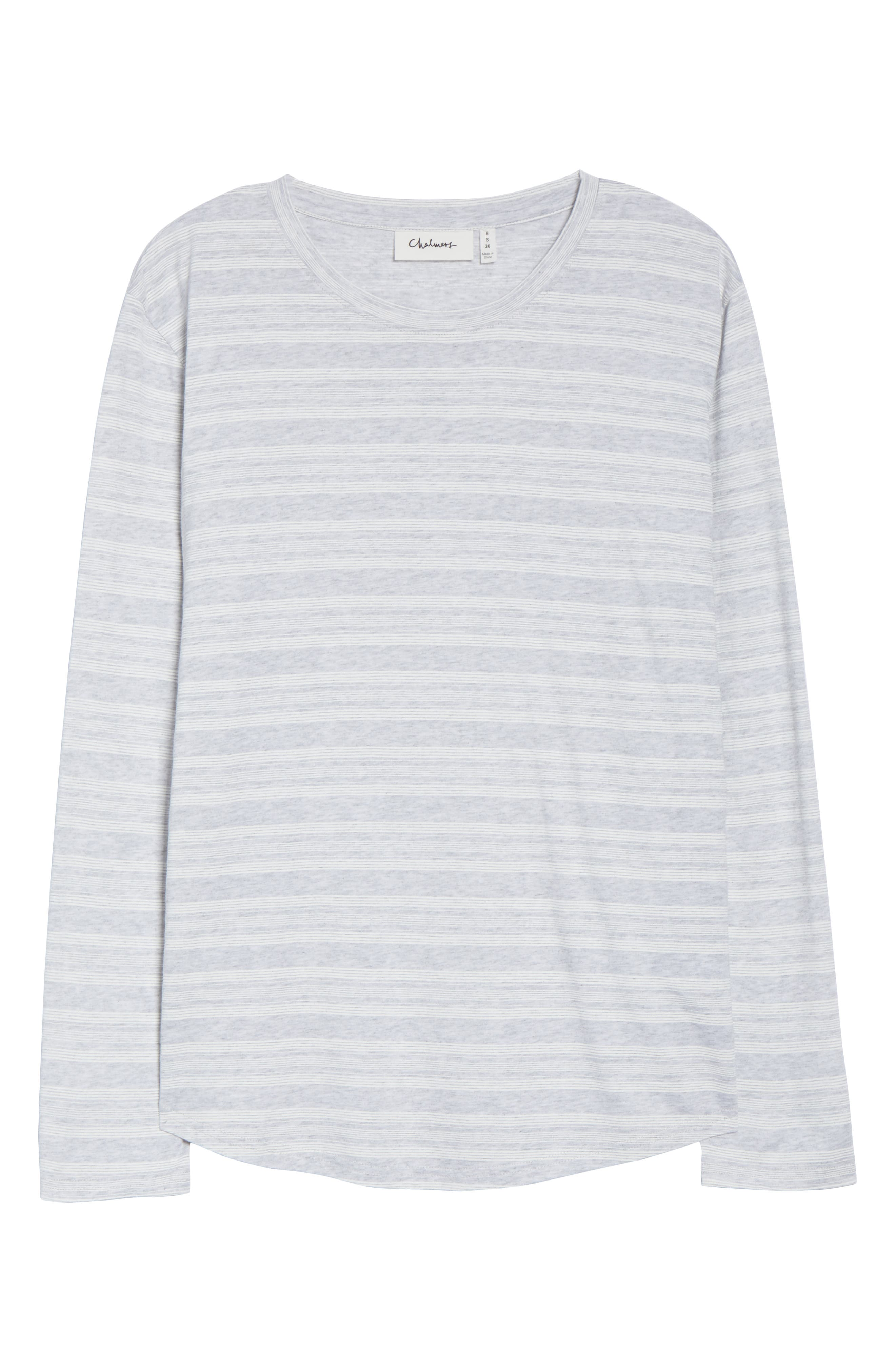 CHALMERS,                             Issy Pajama Top,                             Alternate thumbnail 6, color,                             LOLLY STRIPE WHITE