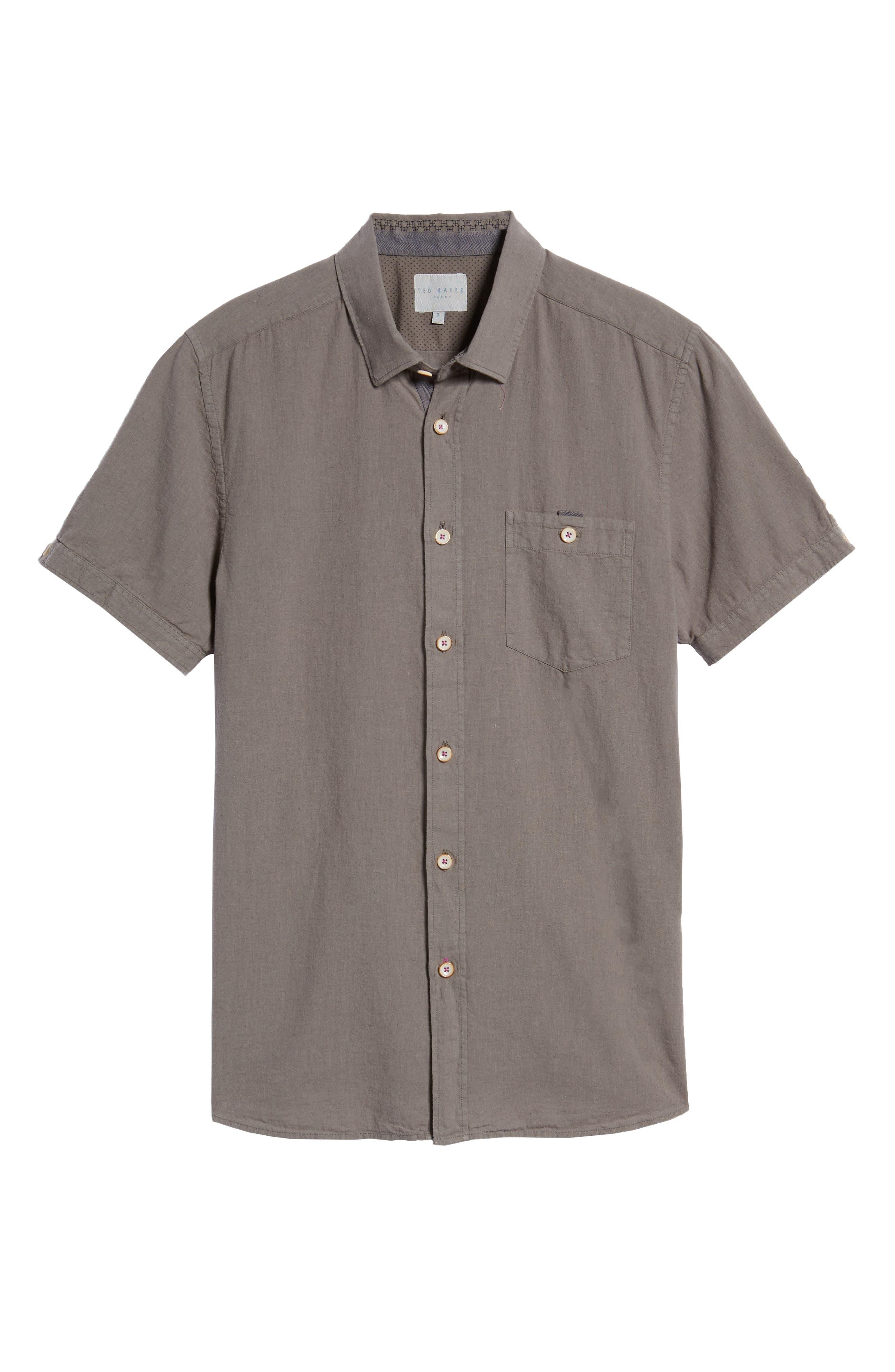 Shrwash Modern Slim Fit Sport Shirt,                             Alternate thumbnail 6, color,                             030