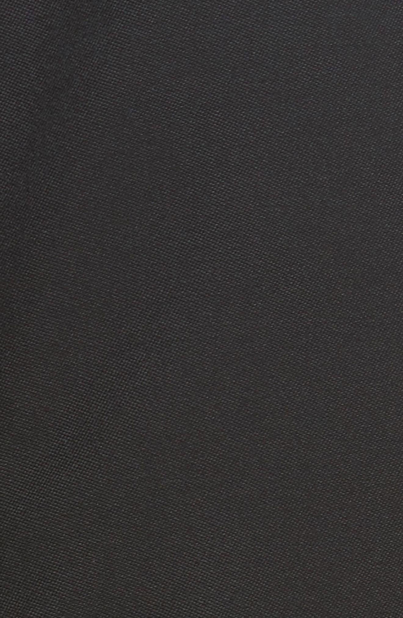 Military Peplum Dress,                             Alternate thumbnail 5, color,                             001