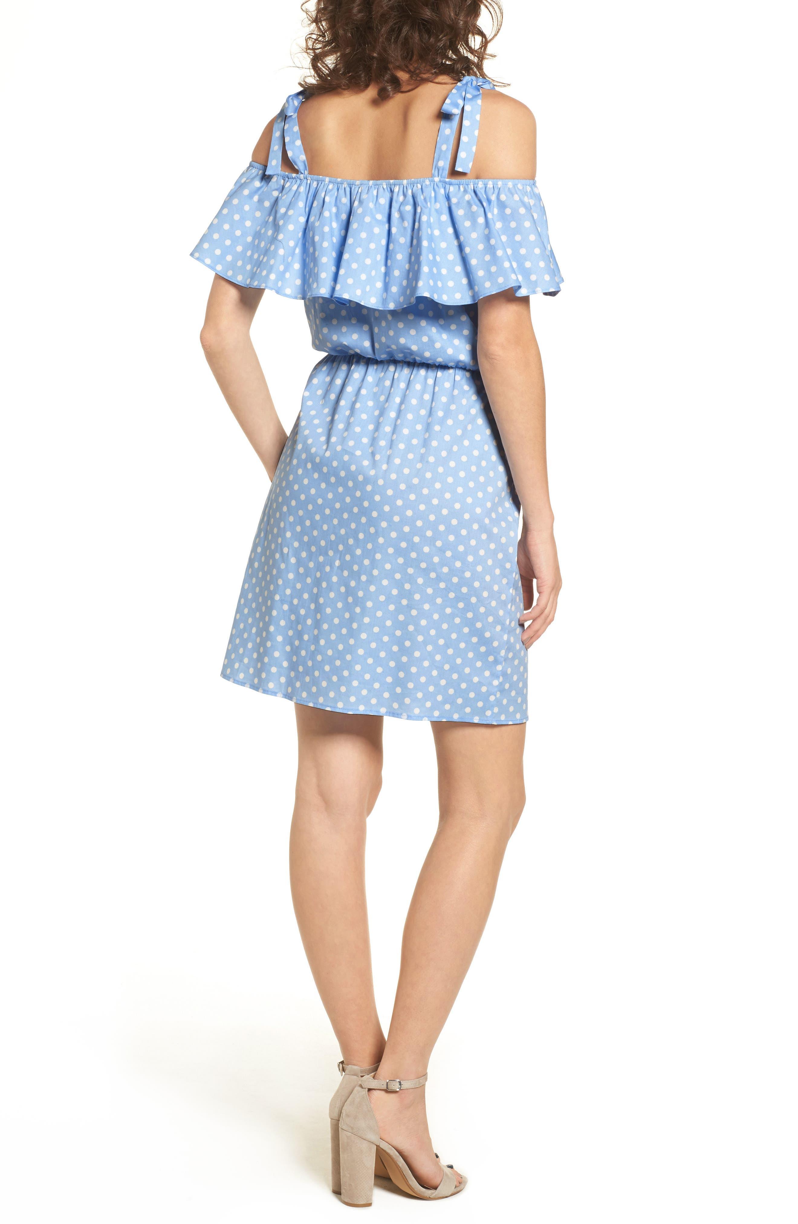 Ruffle Cold Shoulder Dress,                             Alternate thumbnail 2, color,                             463