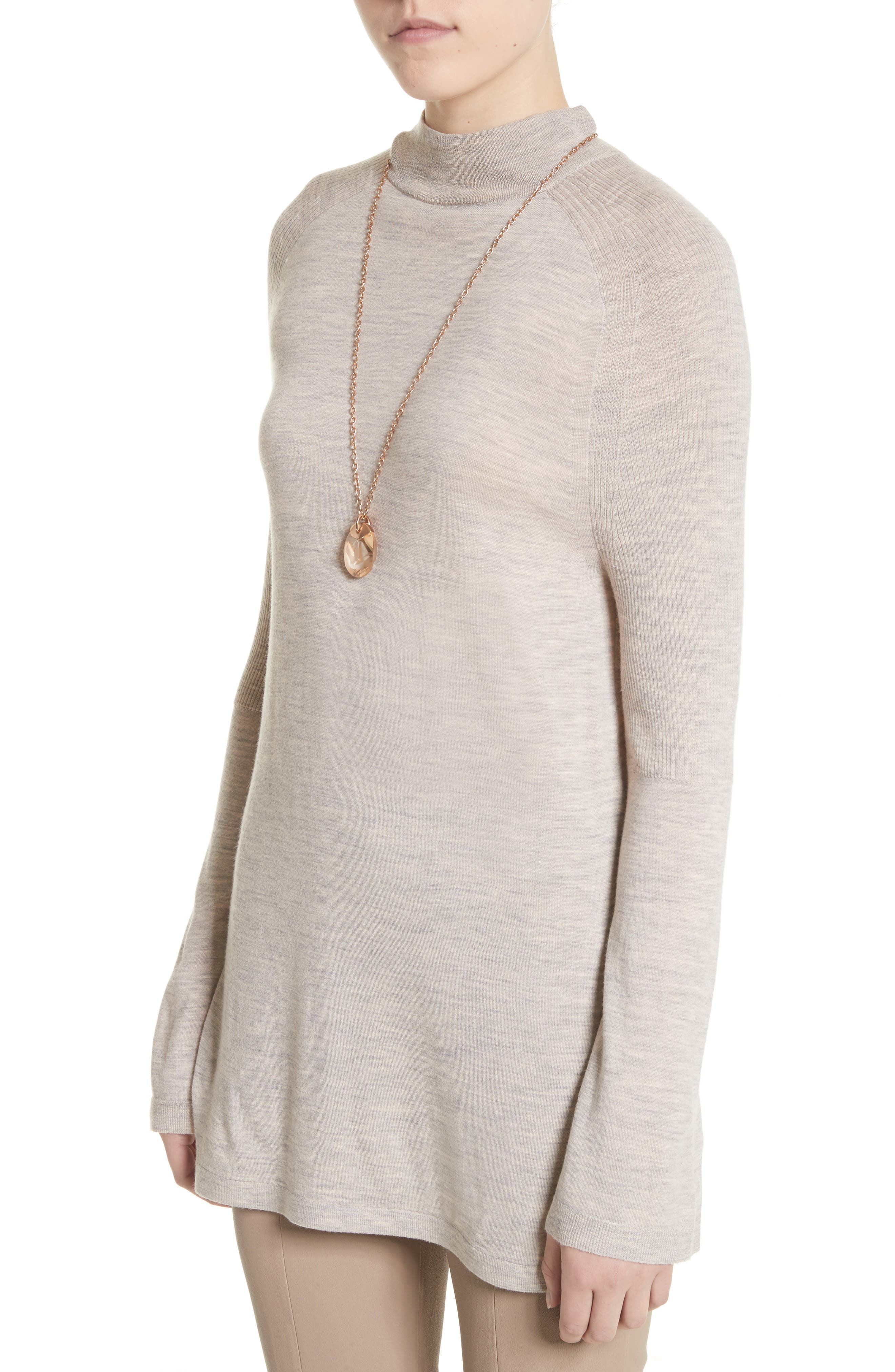 Wool Belted Tunic,                             Alternate thumbnail 4, color,                             205
