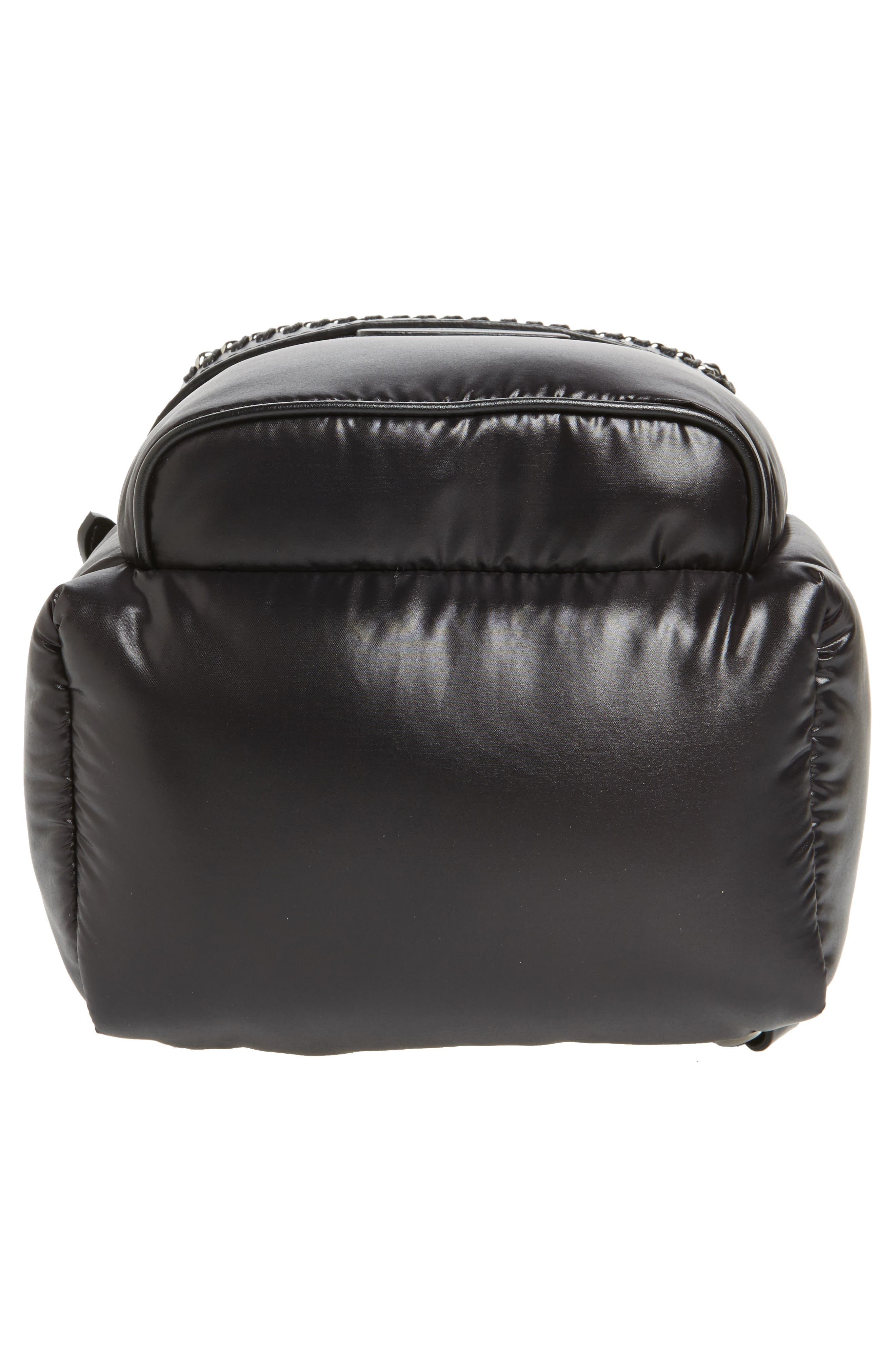 Mini Falabella Go Star Backpack,                             Alternate thumbnail 6, color,                             001