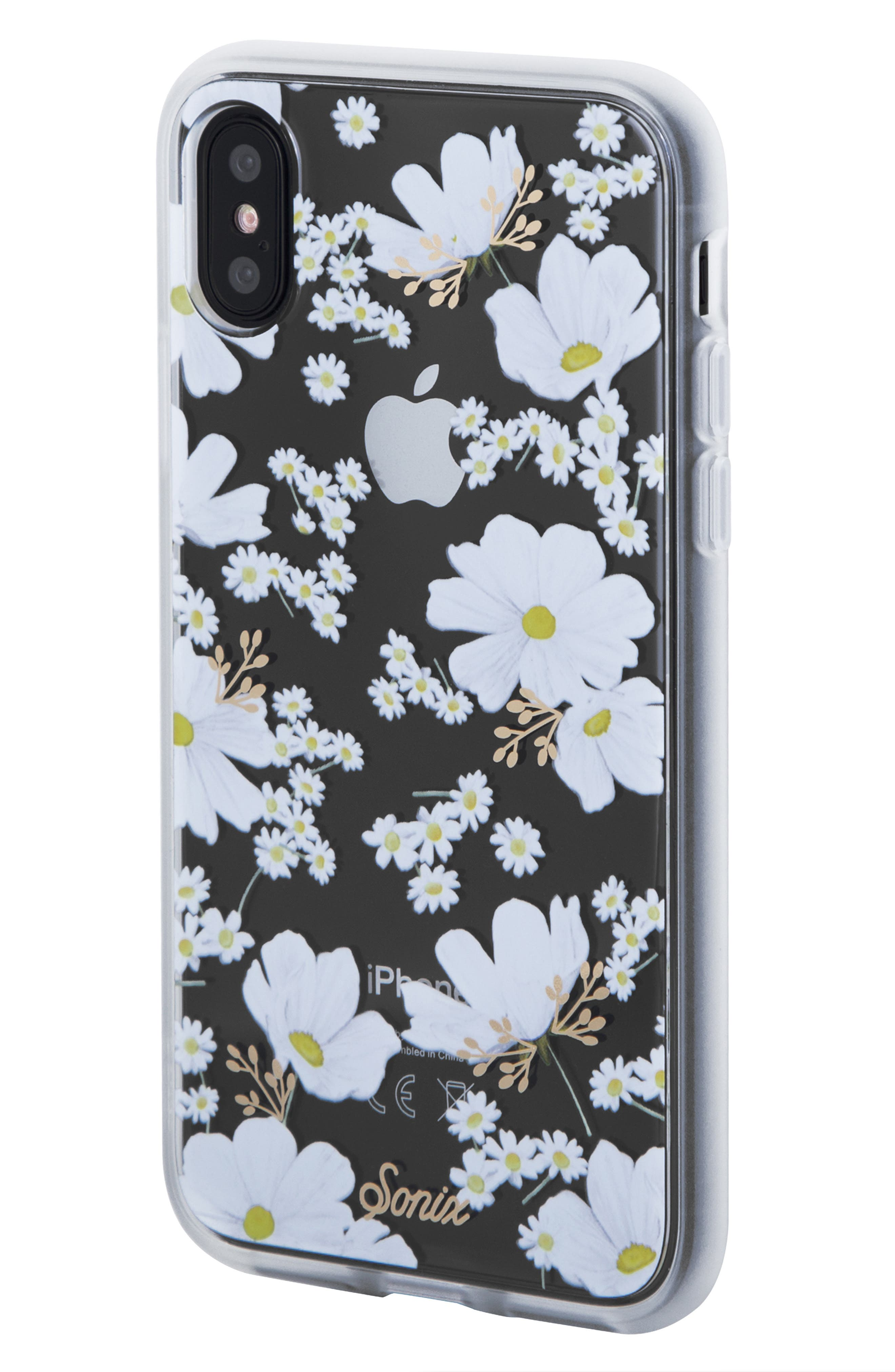 Ditsy Daisy iPhone X/Xs, XR & X Max Case,                             Main thumbnail 1, color,                             WHITE
