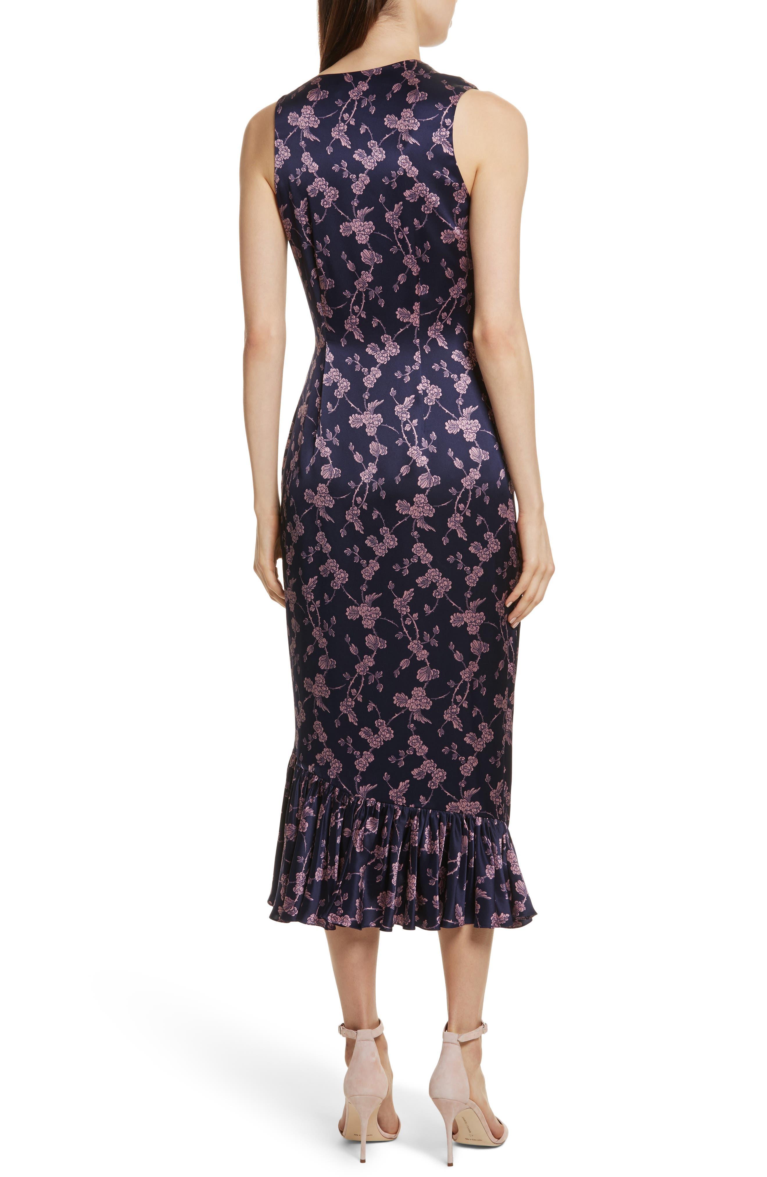 Nanon Knotted Silk Dress,                             Alternate thumbnail 2, color,                             699
